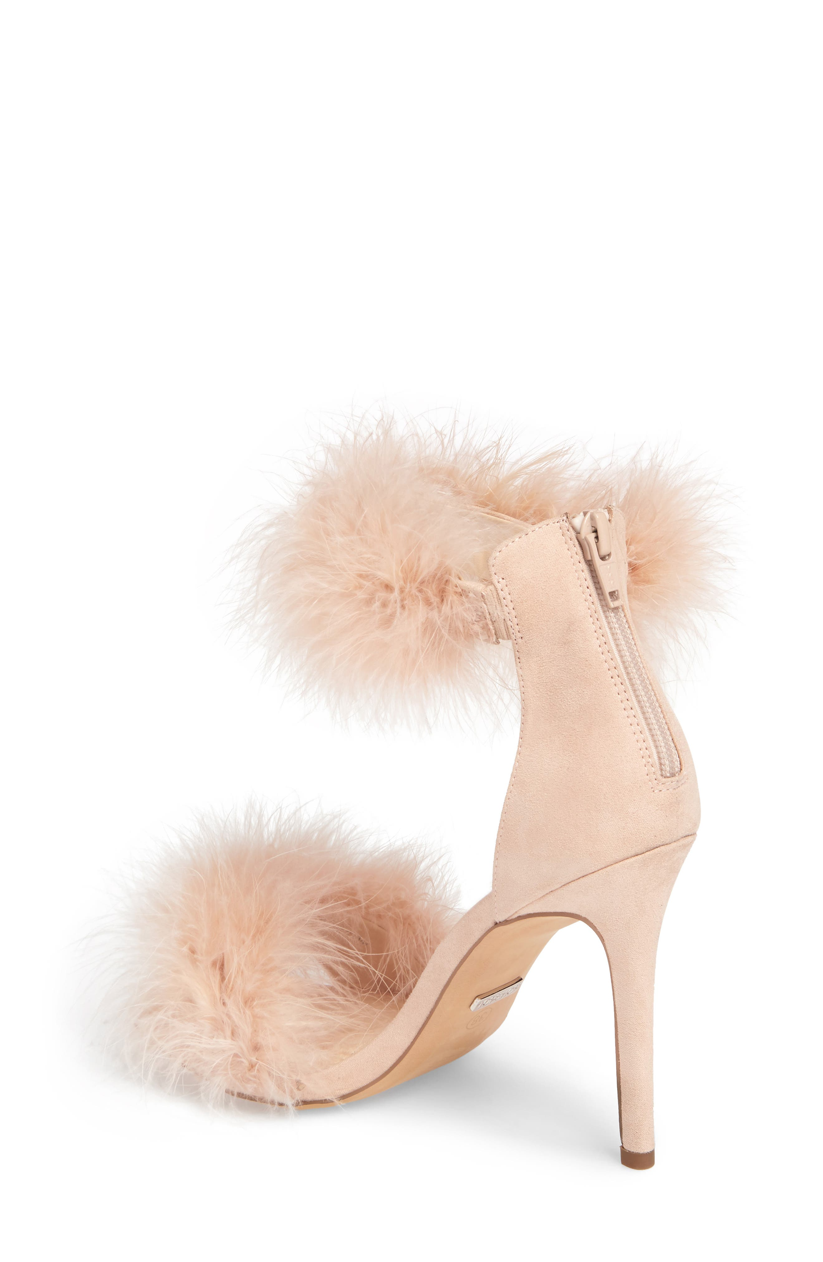 Feather Strap Sandal,                             Alternate thumbnail 2, color,                             Nude