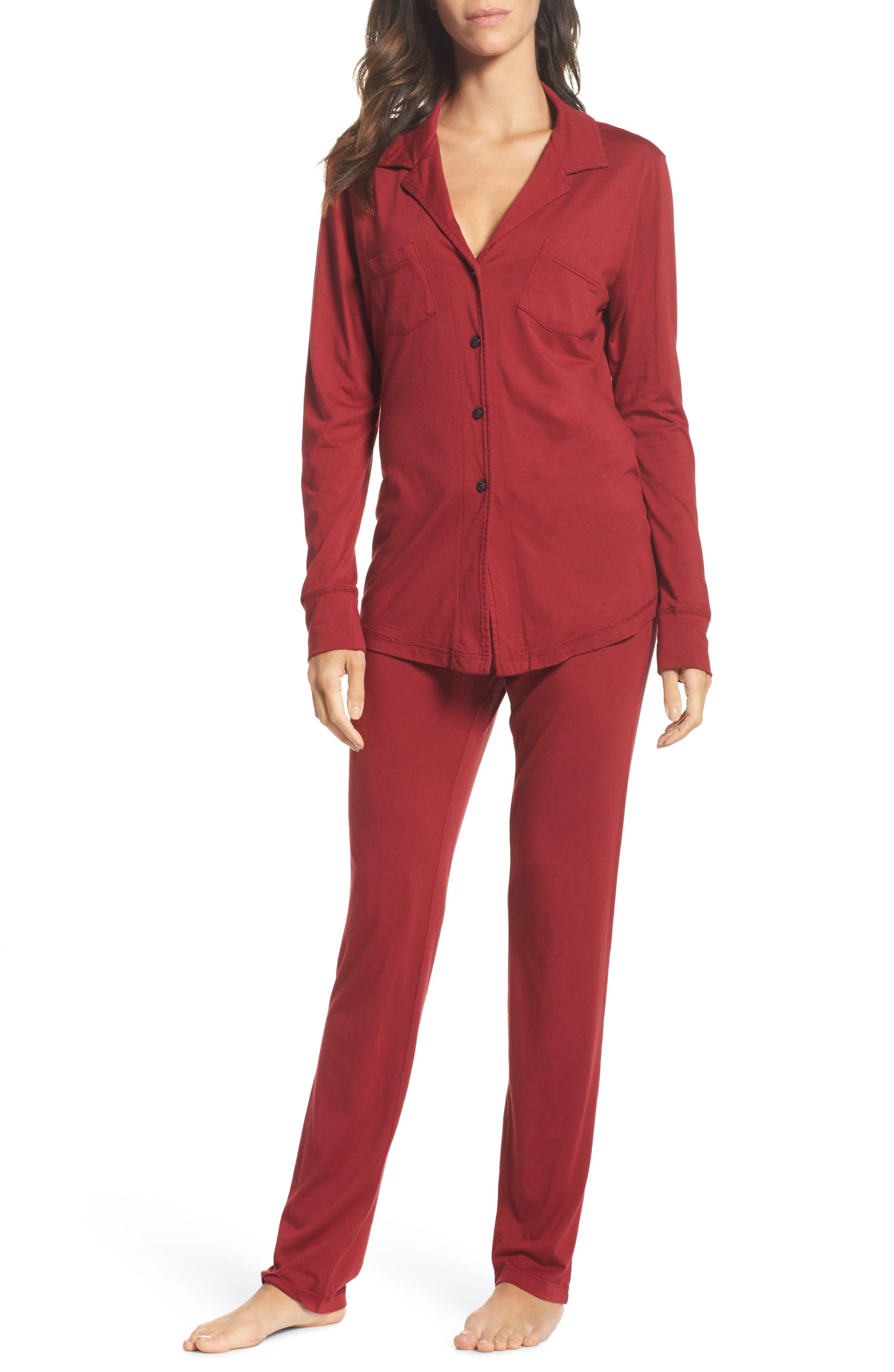 Alternate Image 1 Selected - LOVE+GRACE 'Cassie' Cotton & Modal Pajamas