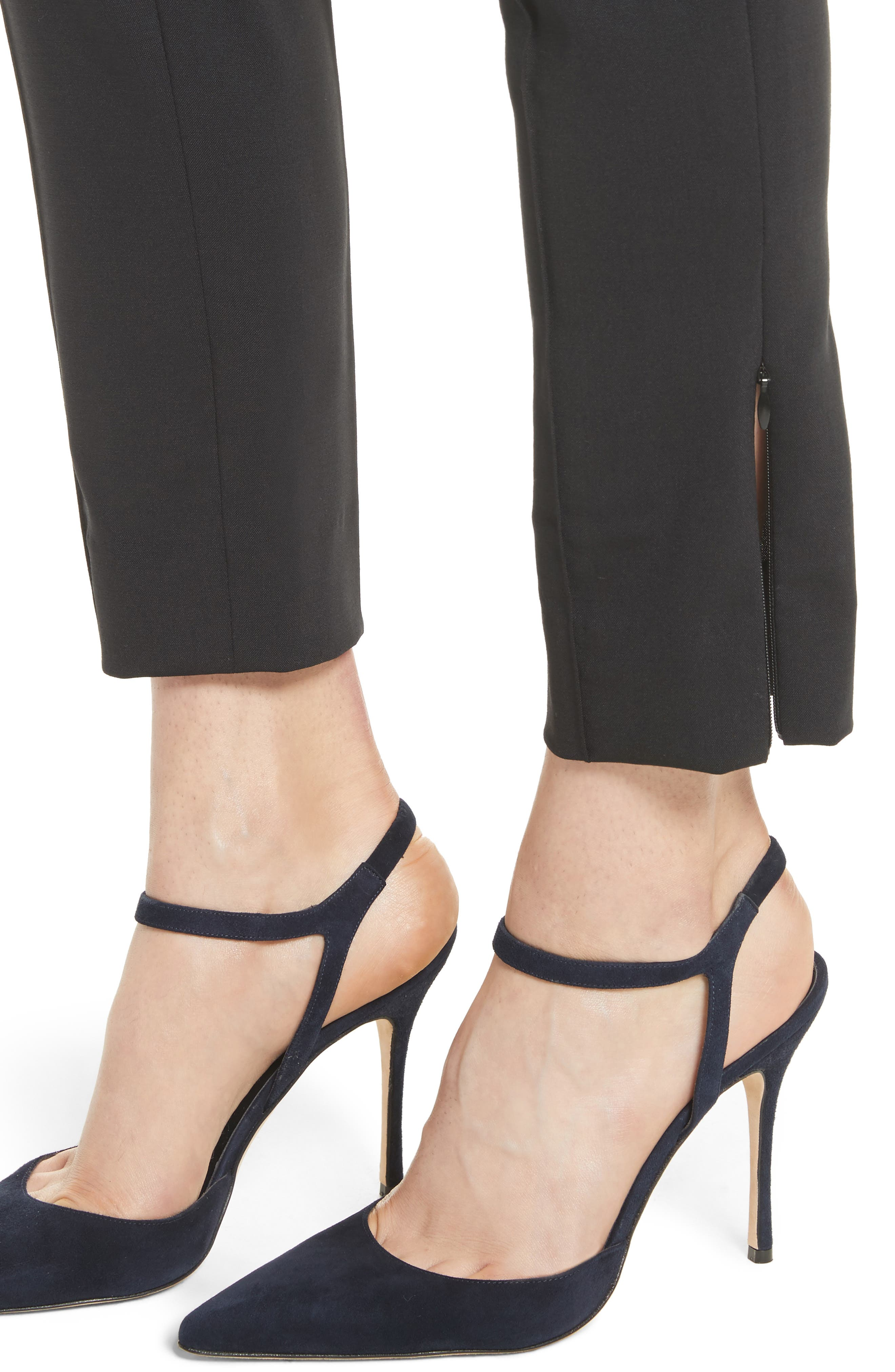 Nahla Ankle Pants,                             Alternate thumbnail 6, color,                             Black