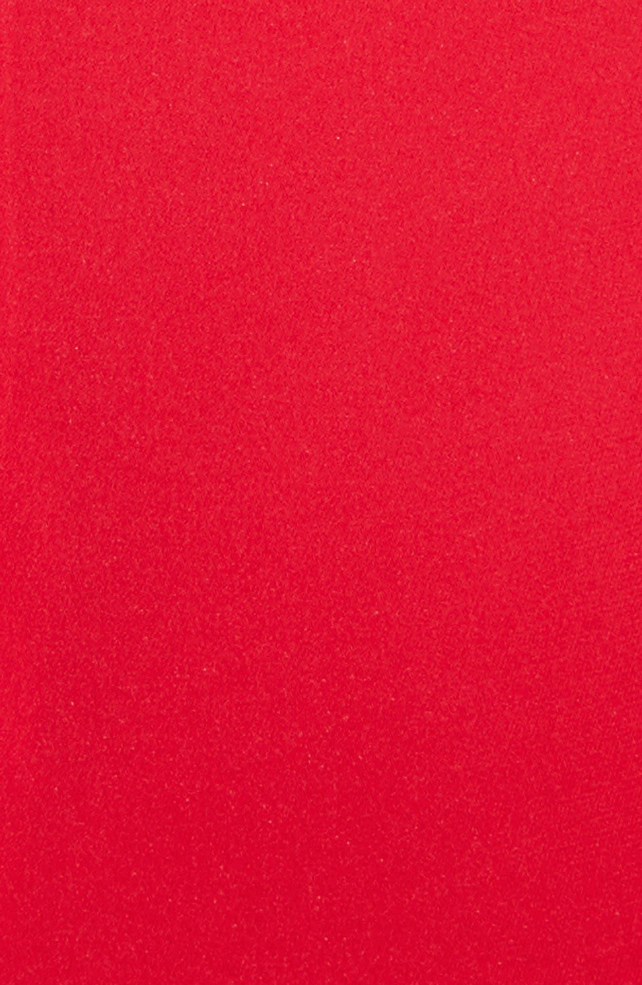 Kayla Deep V-Neck Stretch Silk Dress,                             Alternate thumbnail 5, color,                             Lipstick