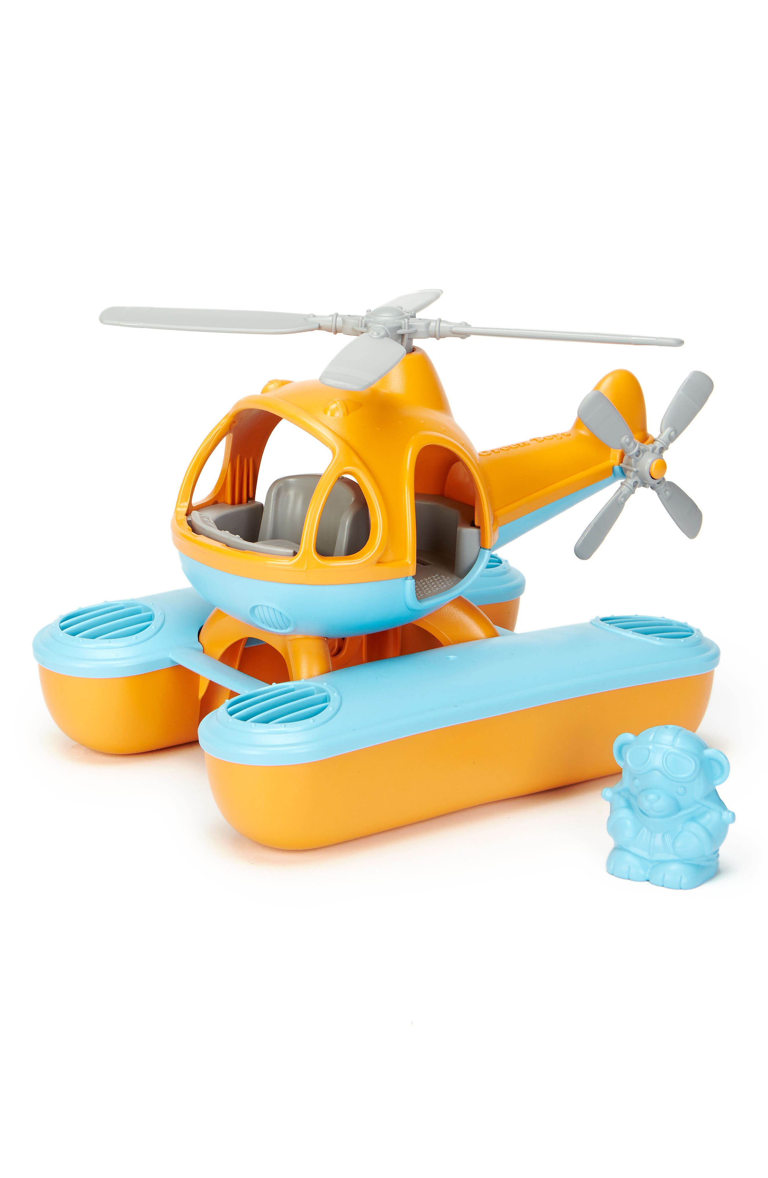 Two-Piece Seacopter Toy,                         Main,                         color, Orange