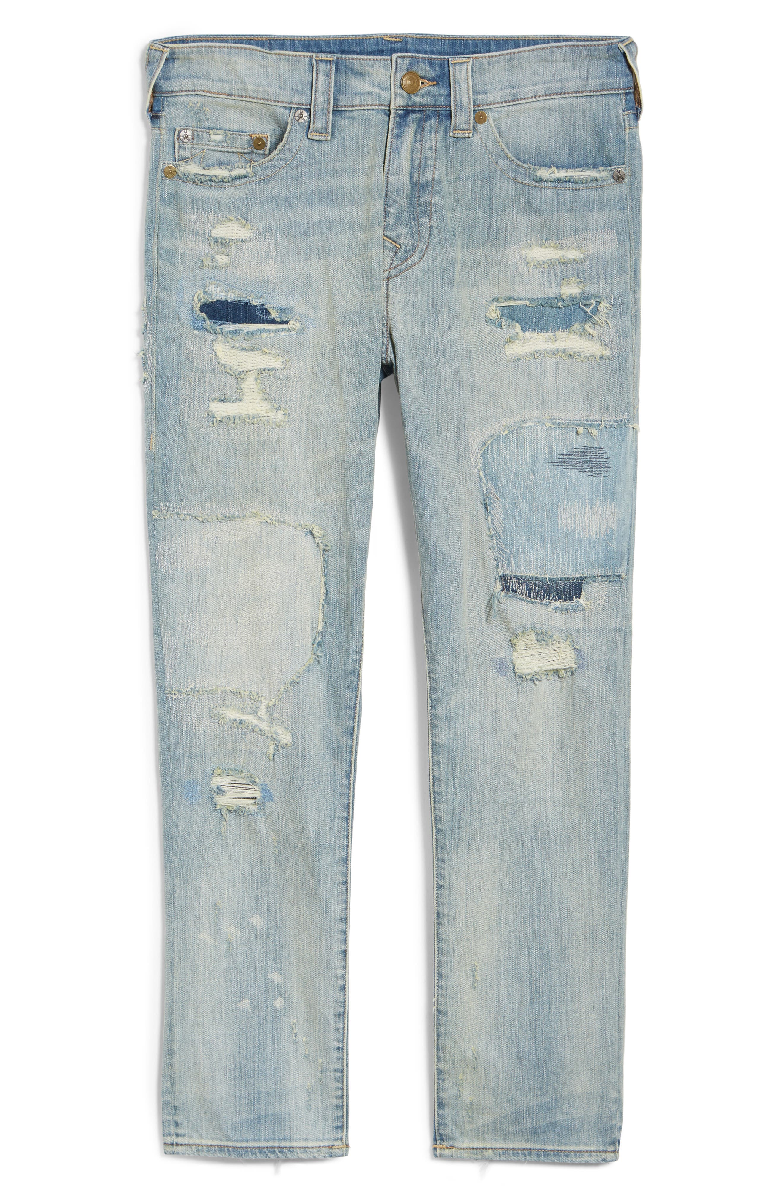 Mick Skinny Fit Jeans,                             Alternate thumbnail 6, color,                             Indigo Immortal