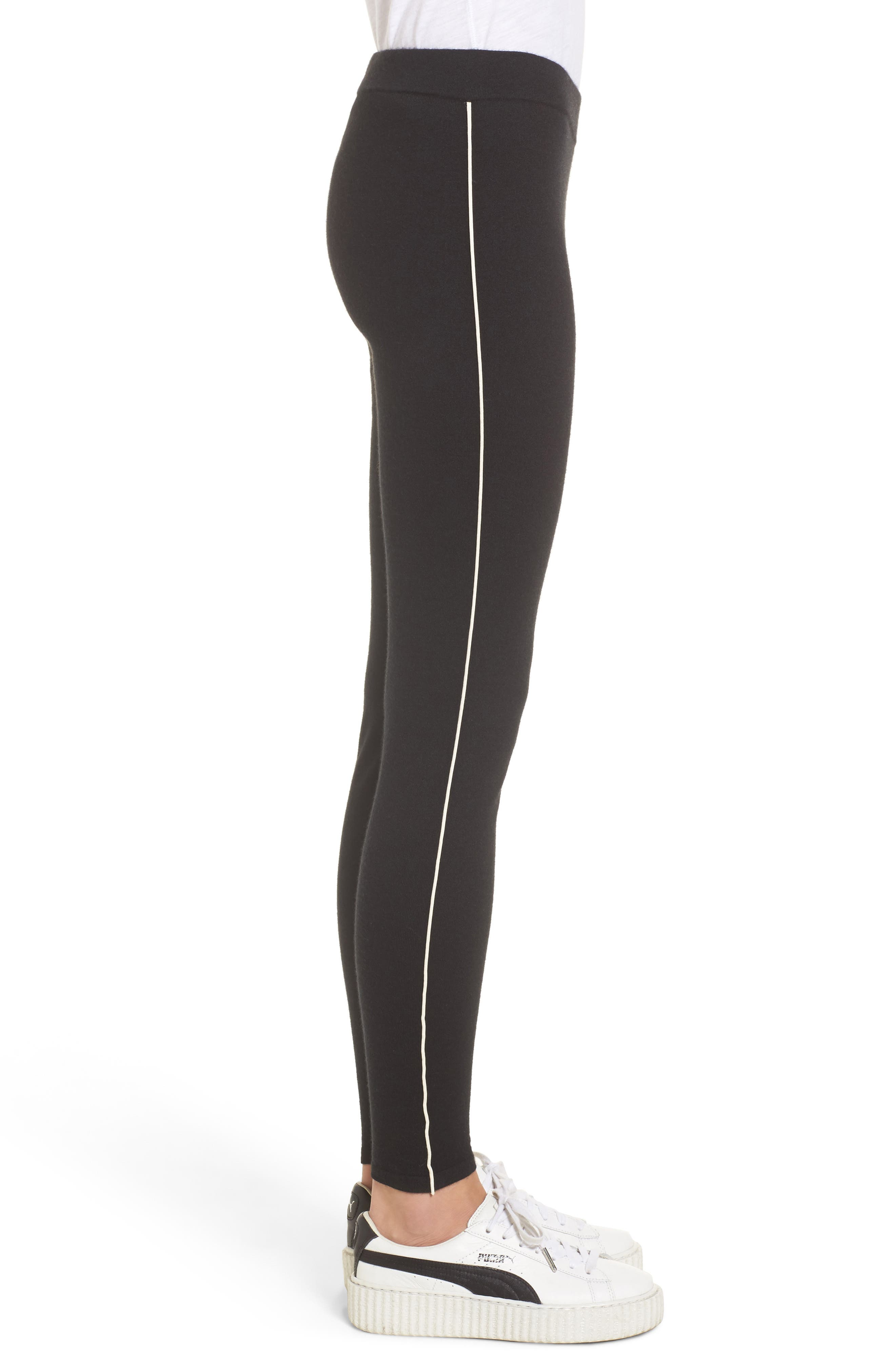Alternate Image 3  - James Perse Stretch Cashmere Leggings