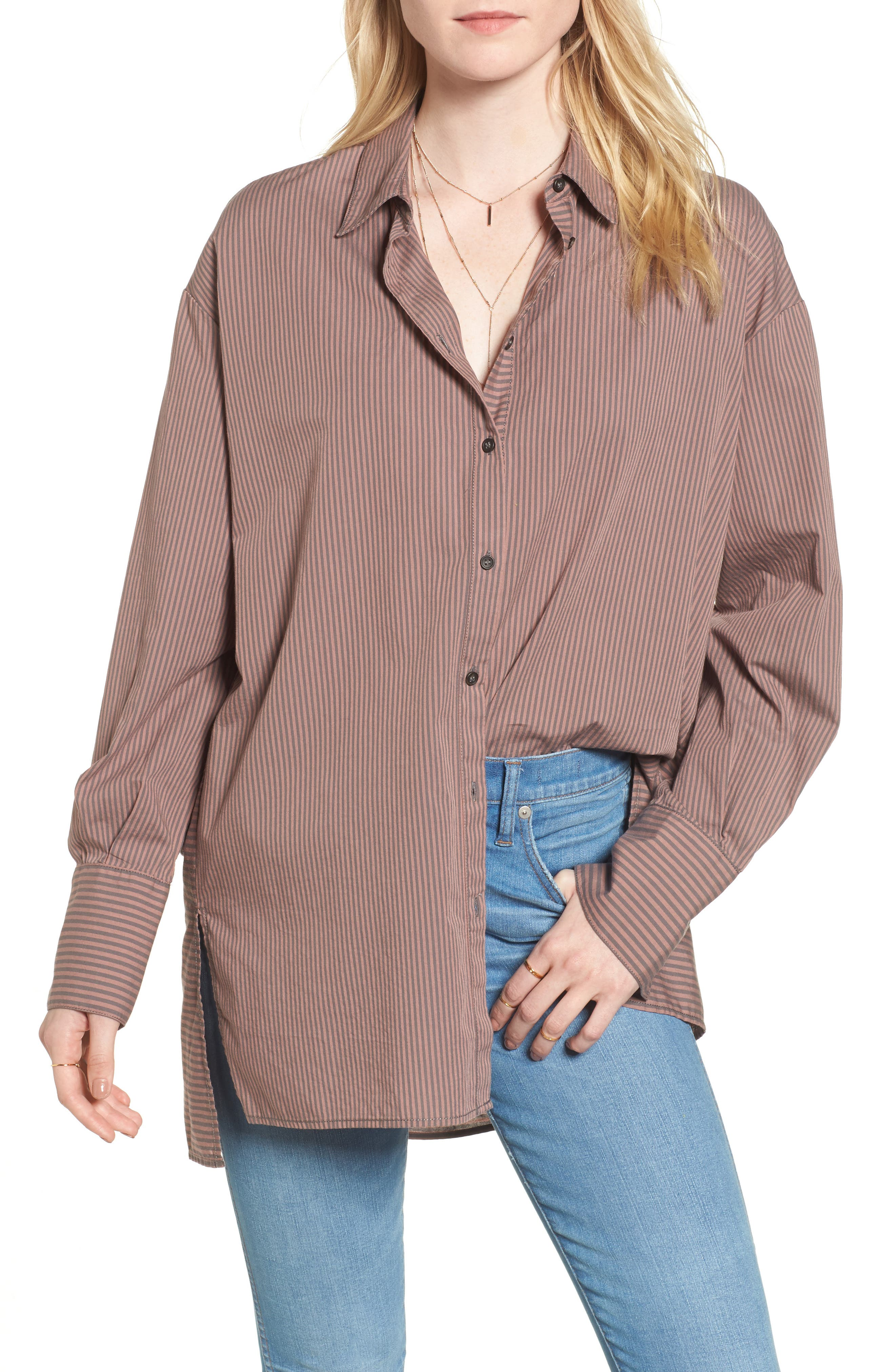 Lakehouse Oversize Shirt,                         Main,                         color, Pink