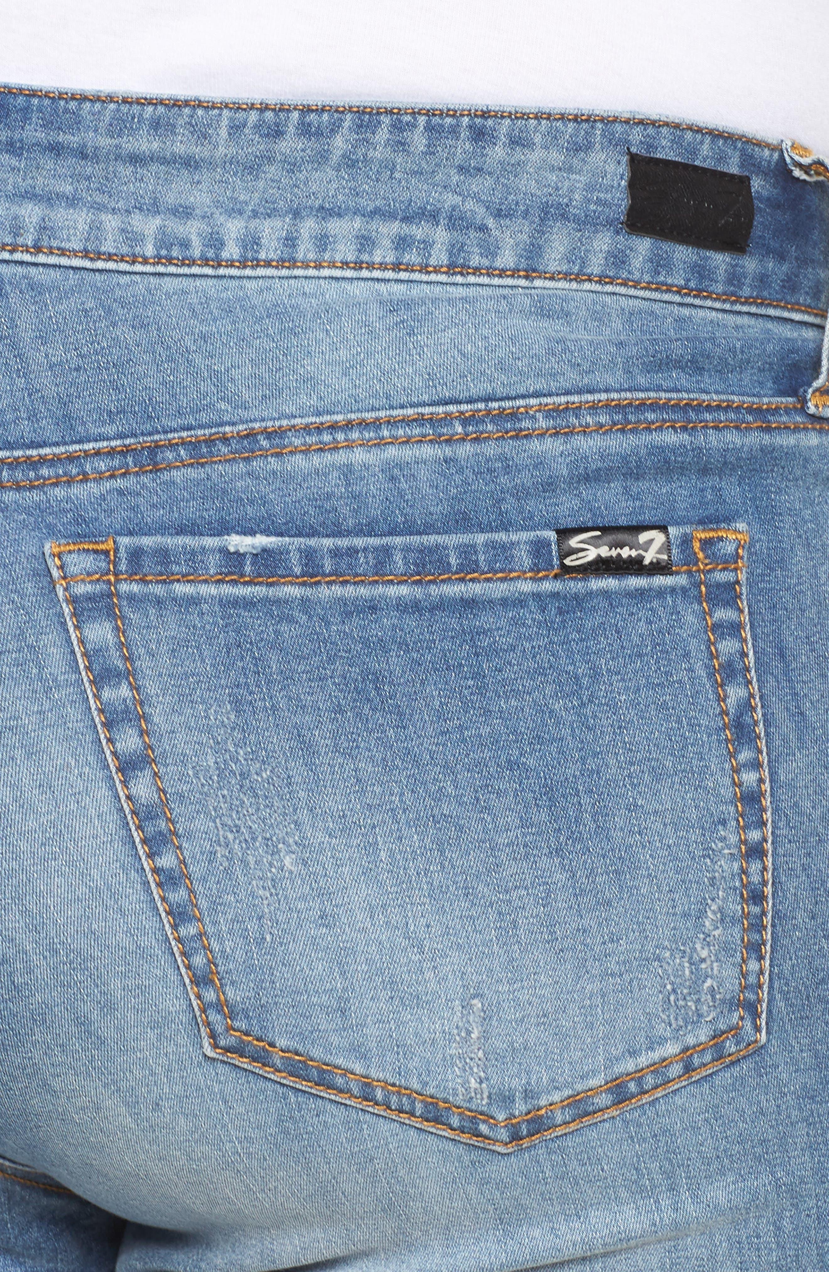 Embellished Skinny Jeans,                             Alternate thumbnail 4, color,                             Starlet