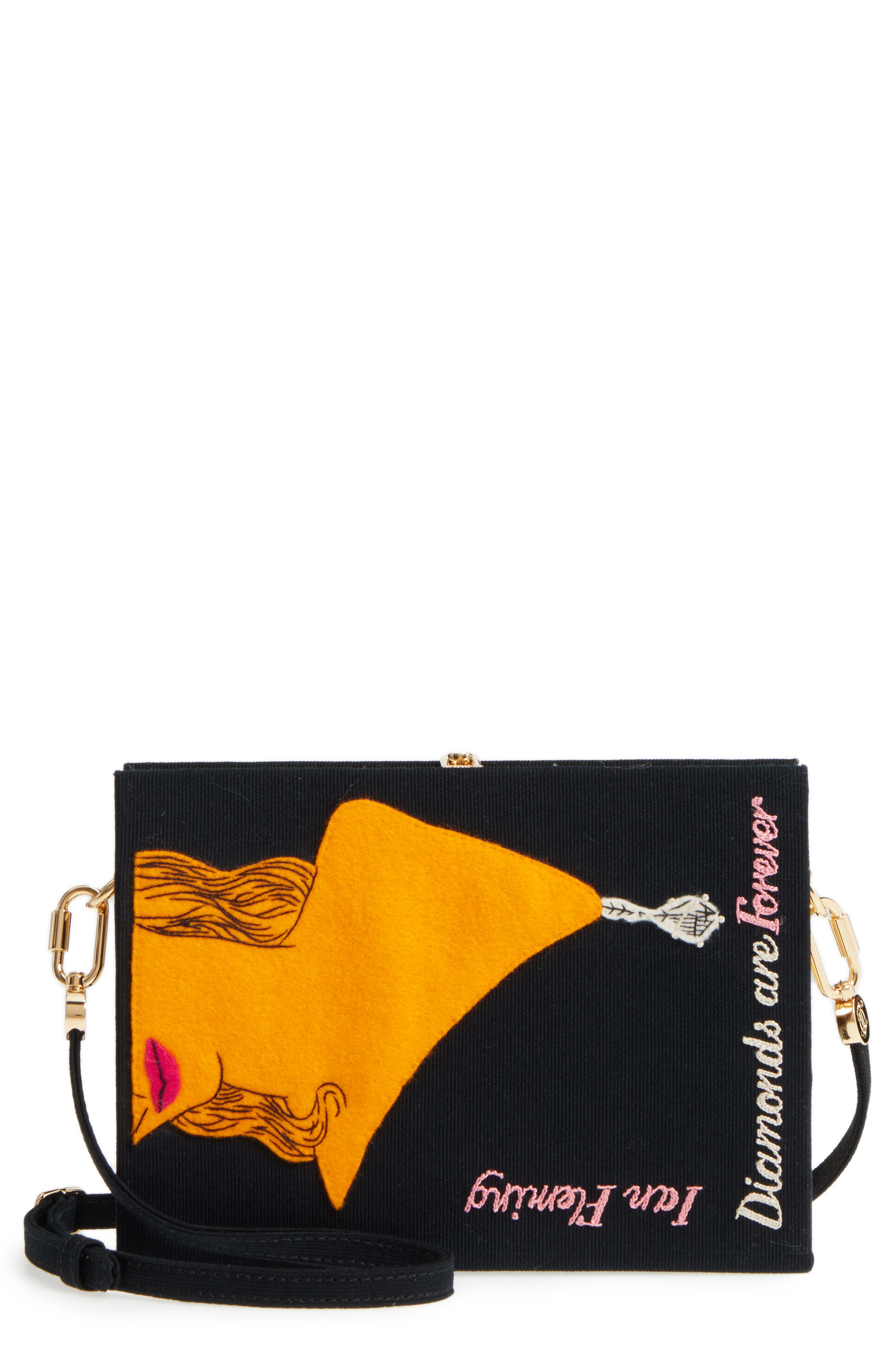 Olympia Le-Tan Diamonds Are Forever Book Clutch