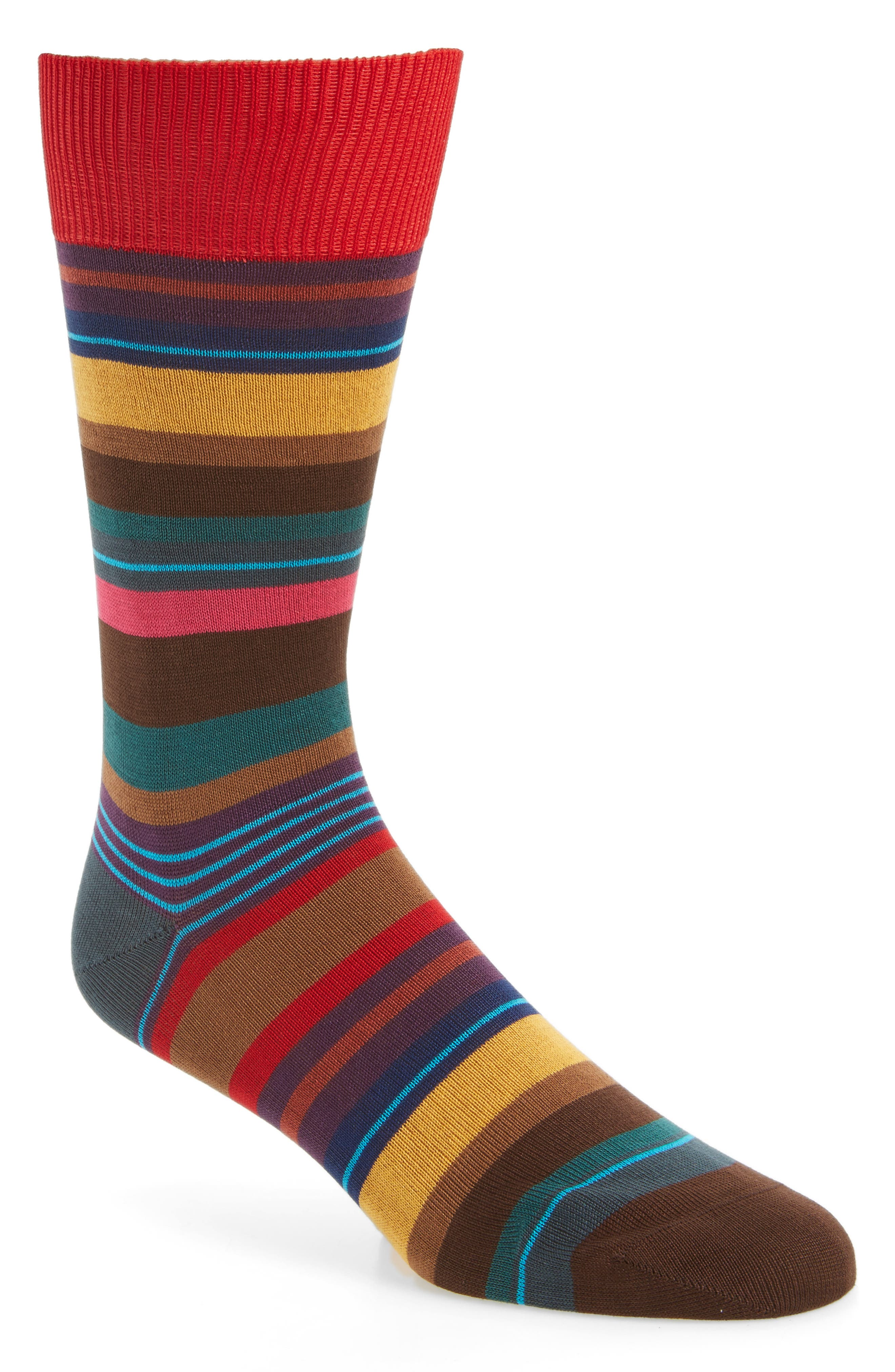 Halentoe Stripe Socks,                         Main,                         color, Red