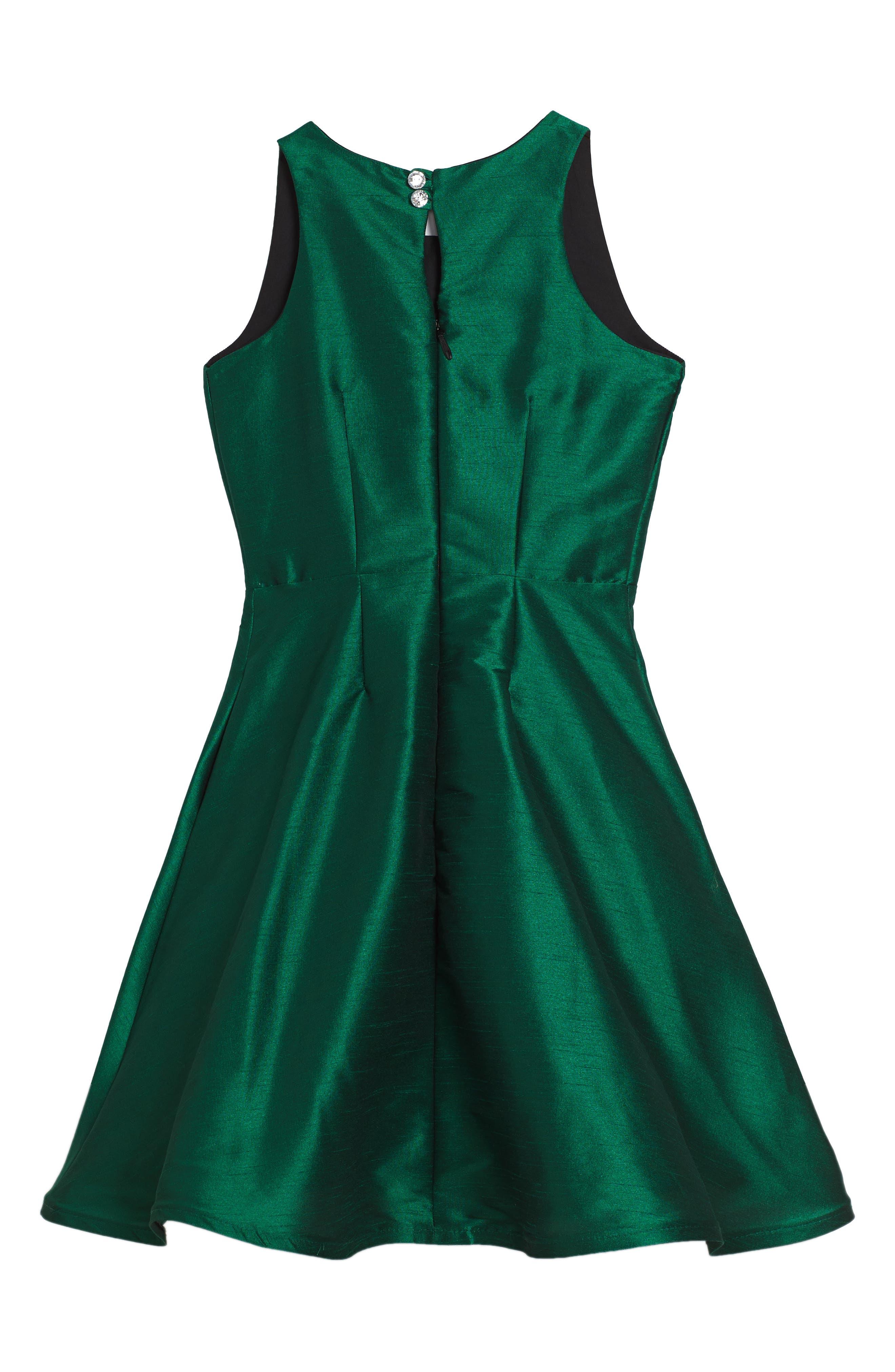 Alternate Image 2  - Fiveloaves Twofish Holiday Beauty Sleeveless Dress (Big Girls)