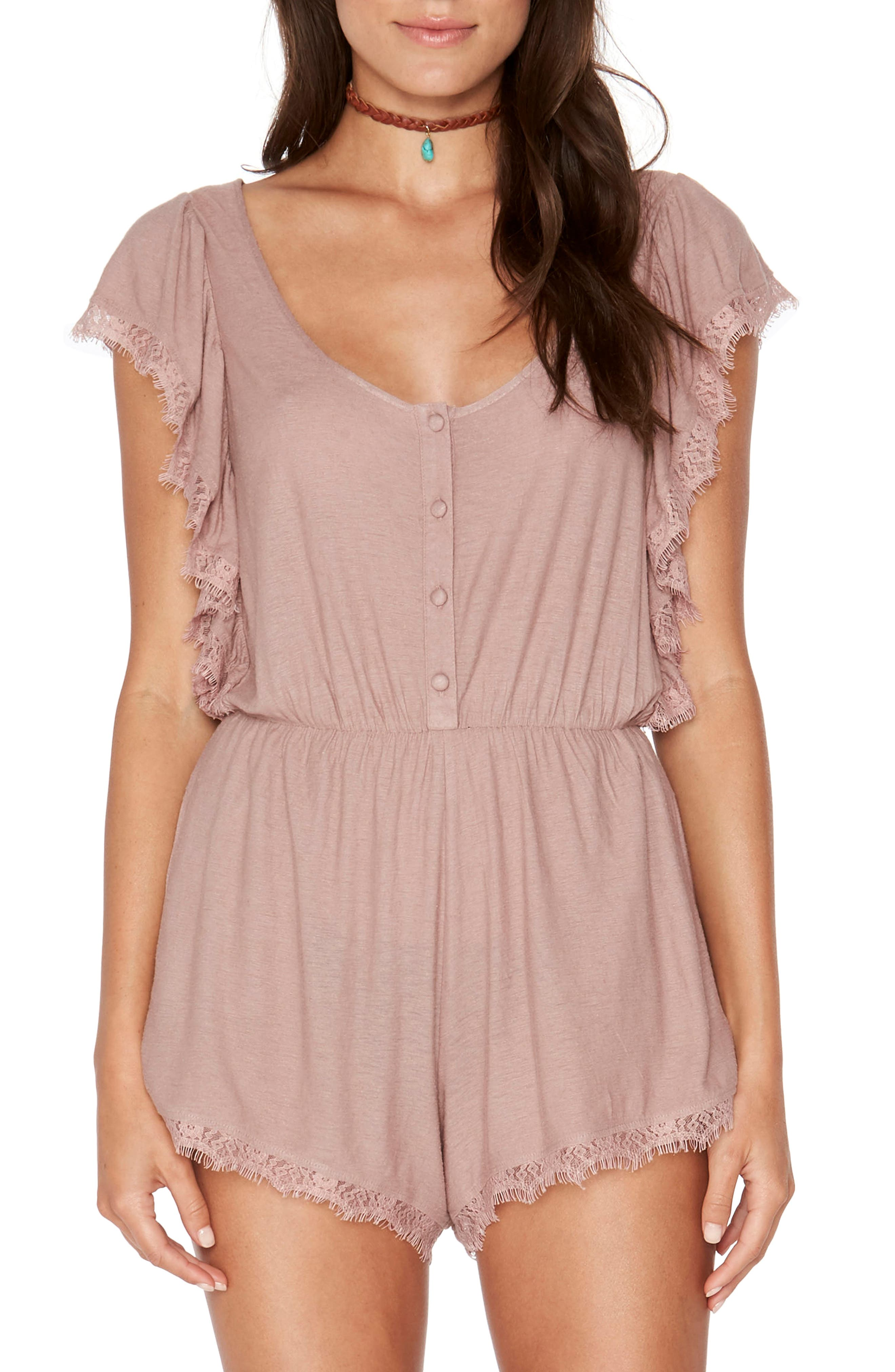 Sweet Life Romper,                         Main,                         color, Dusty Pear