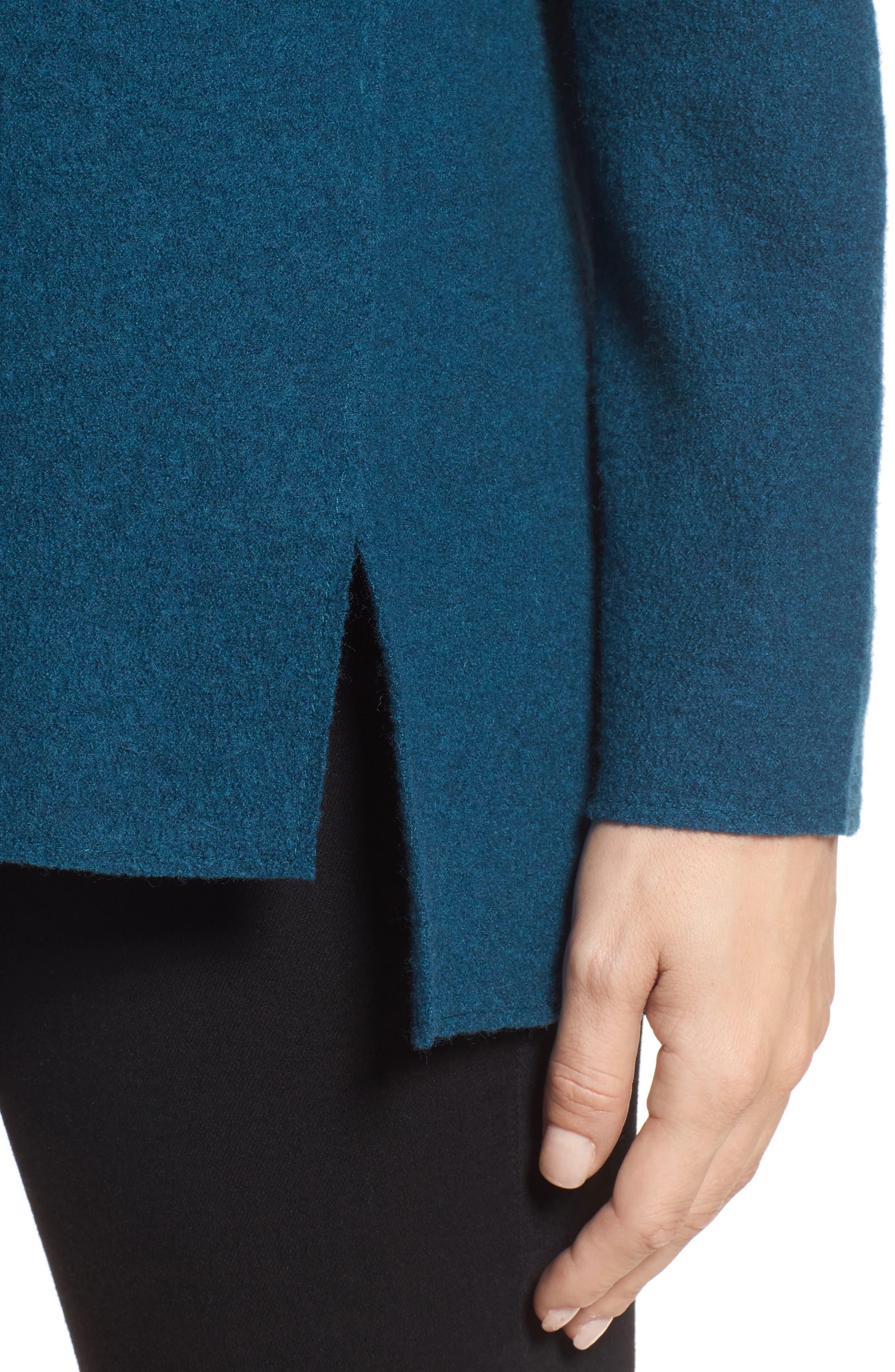 Boiled Merino Wool Top,                             Alternate thumbnail 4, color,                             Blue Spruce