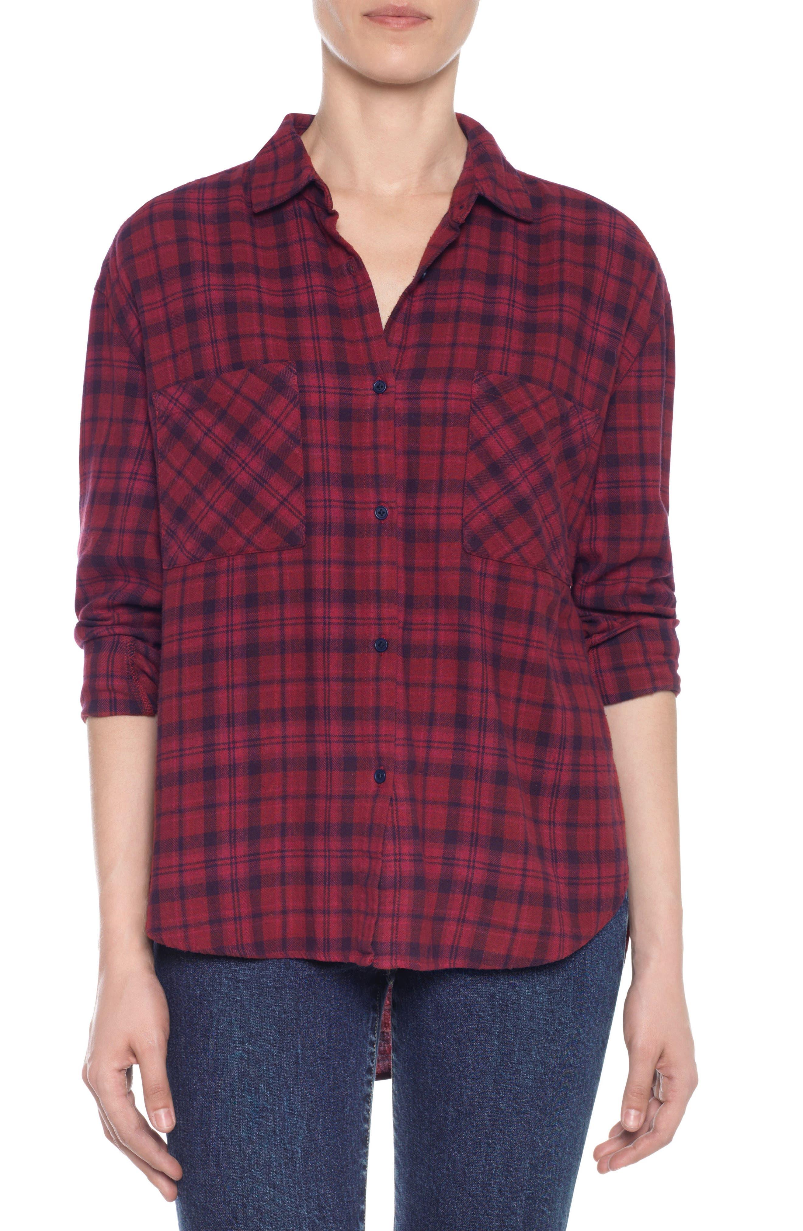 Main Image - Taylor Hill x Joe's Boyfriend Flannel Shirt