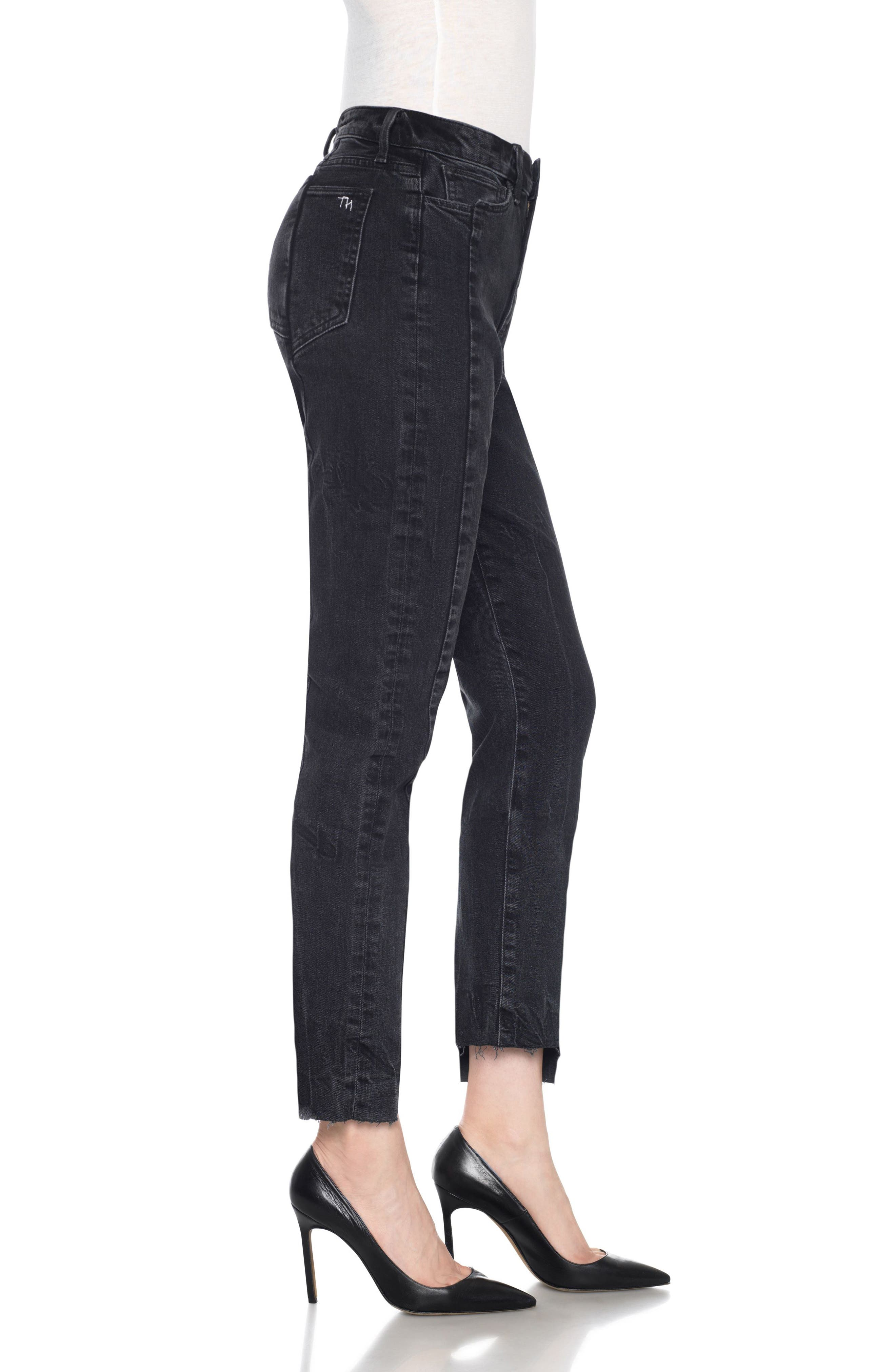 Taylor Hill x Joe's Kass Raw Step Hem Ankle Skinny Jeans,                             Alternate thumbnail 4, color,                             Domino