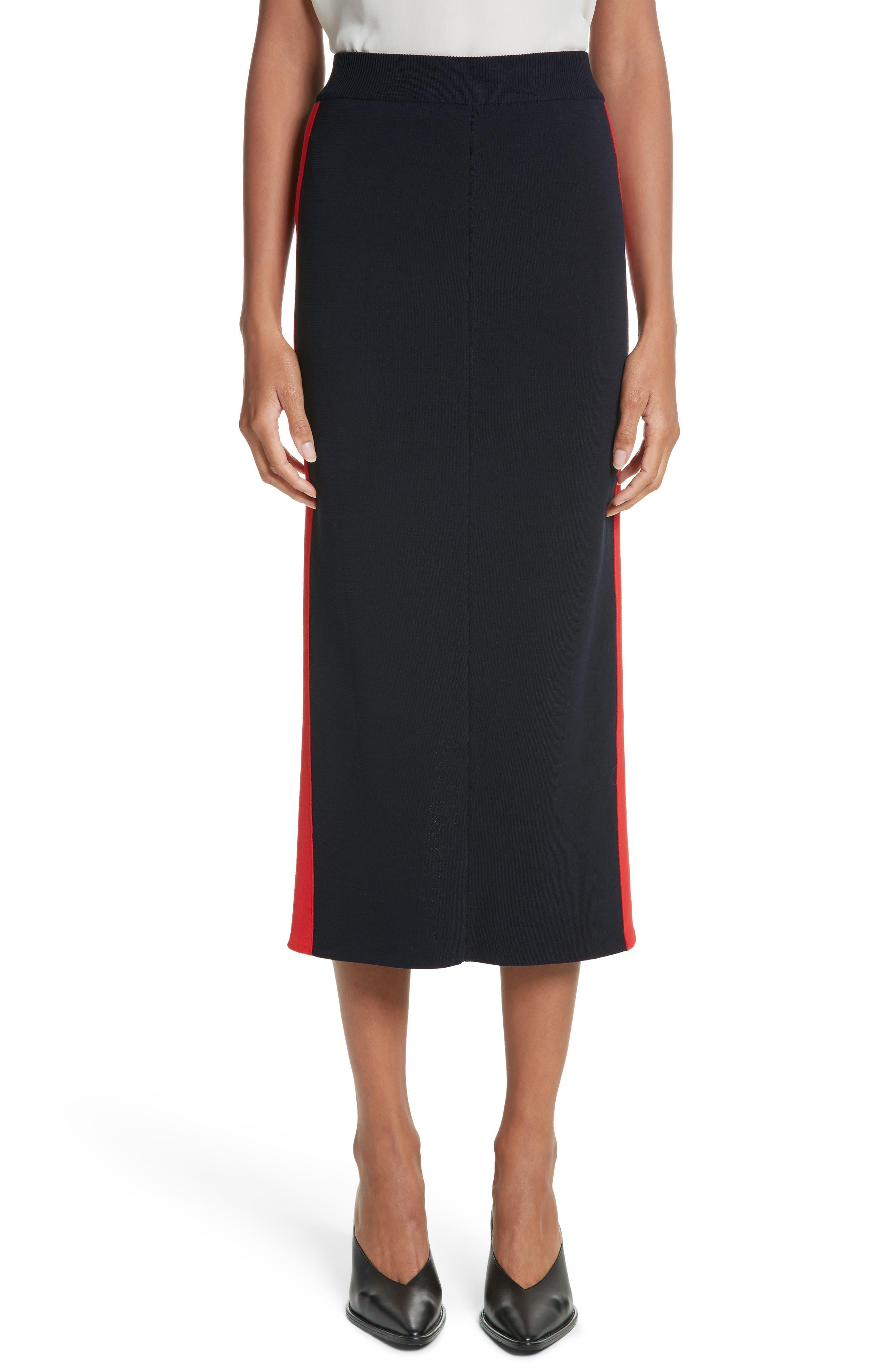 Stripe Cotton Skirt,                             Main thumbnail 1, color,                             Ink