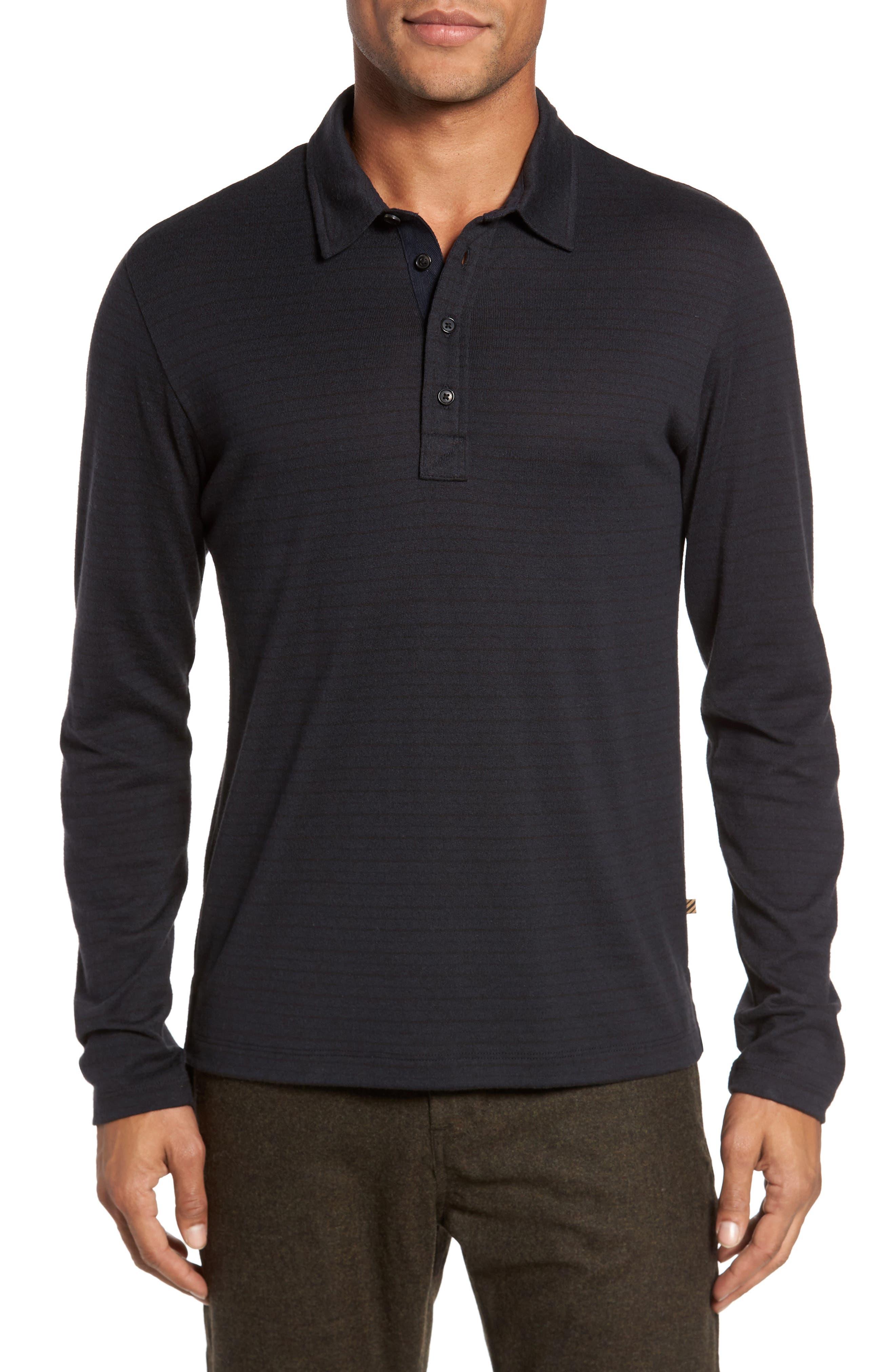 Smith Slim Fit Stripe Polo,                         Main,                         color, Black/ Navy