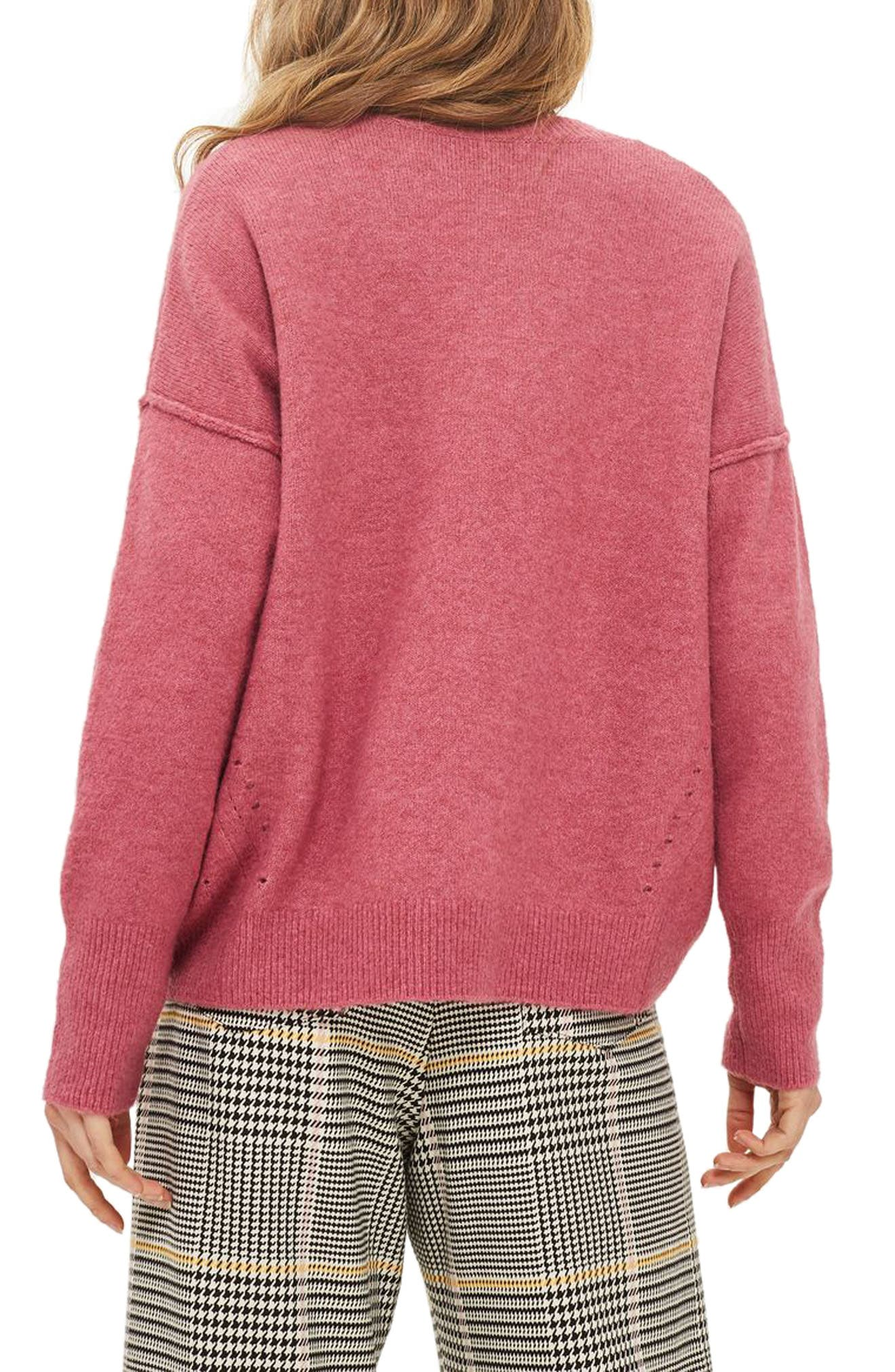 Alternate Image 2  - Topshop Pointelle Detail Sweater