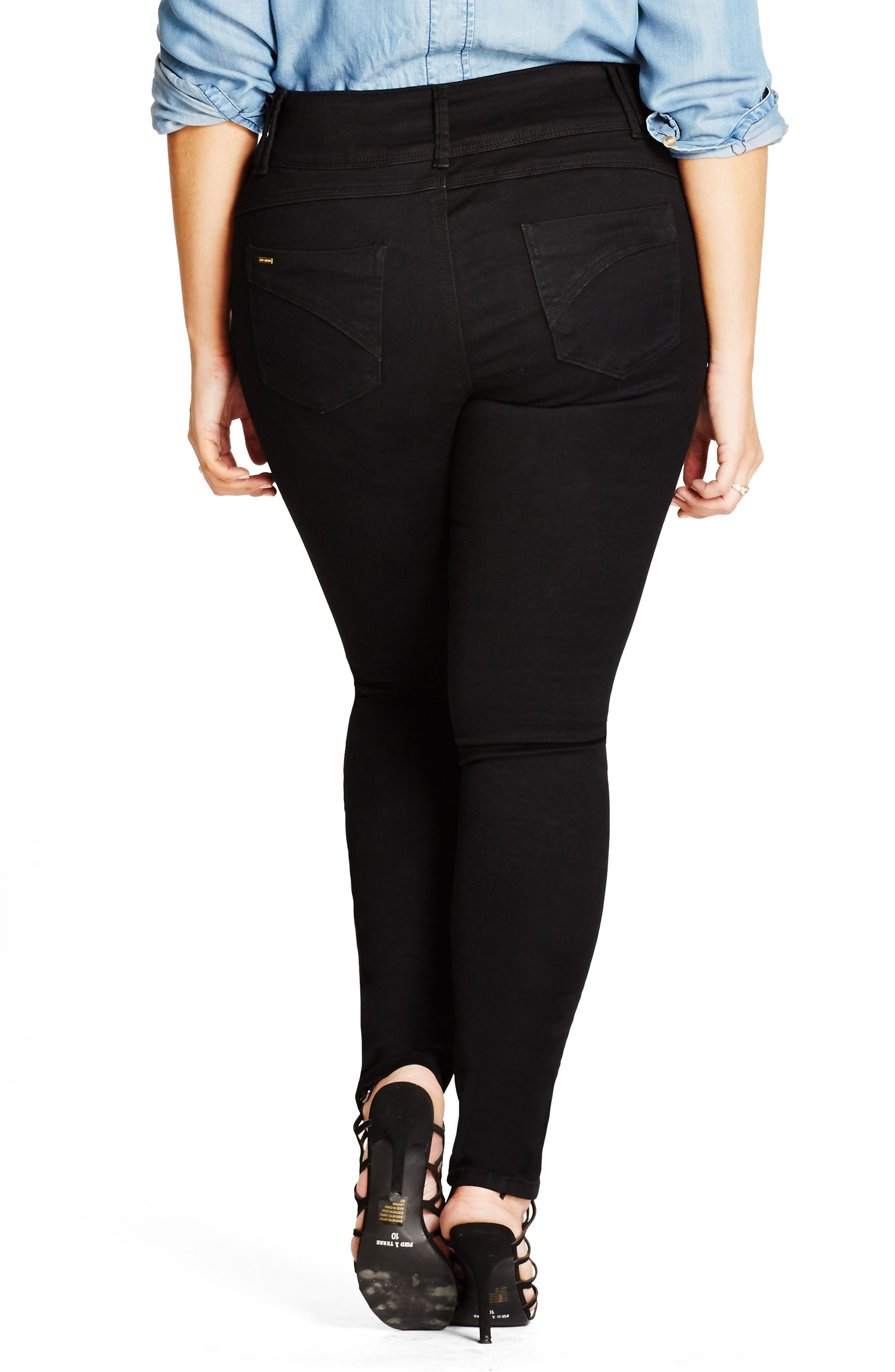 Alternate Image 2  - City Chic Harley Stretch Skinny Jeans (Plus Size)