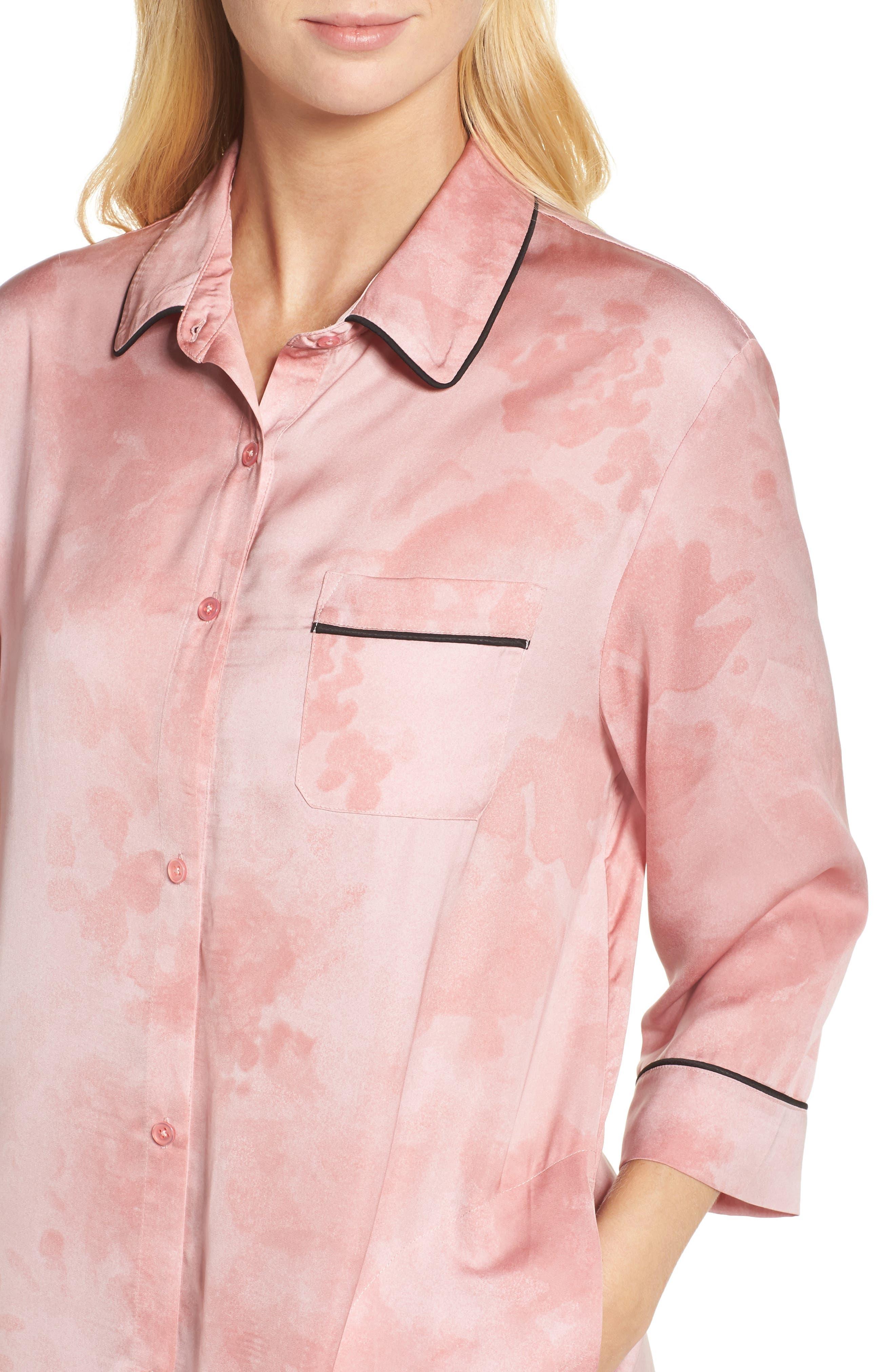Alternate Image 4  - DKNY Washed Satin Sleep Shirt