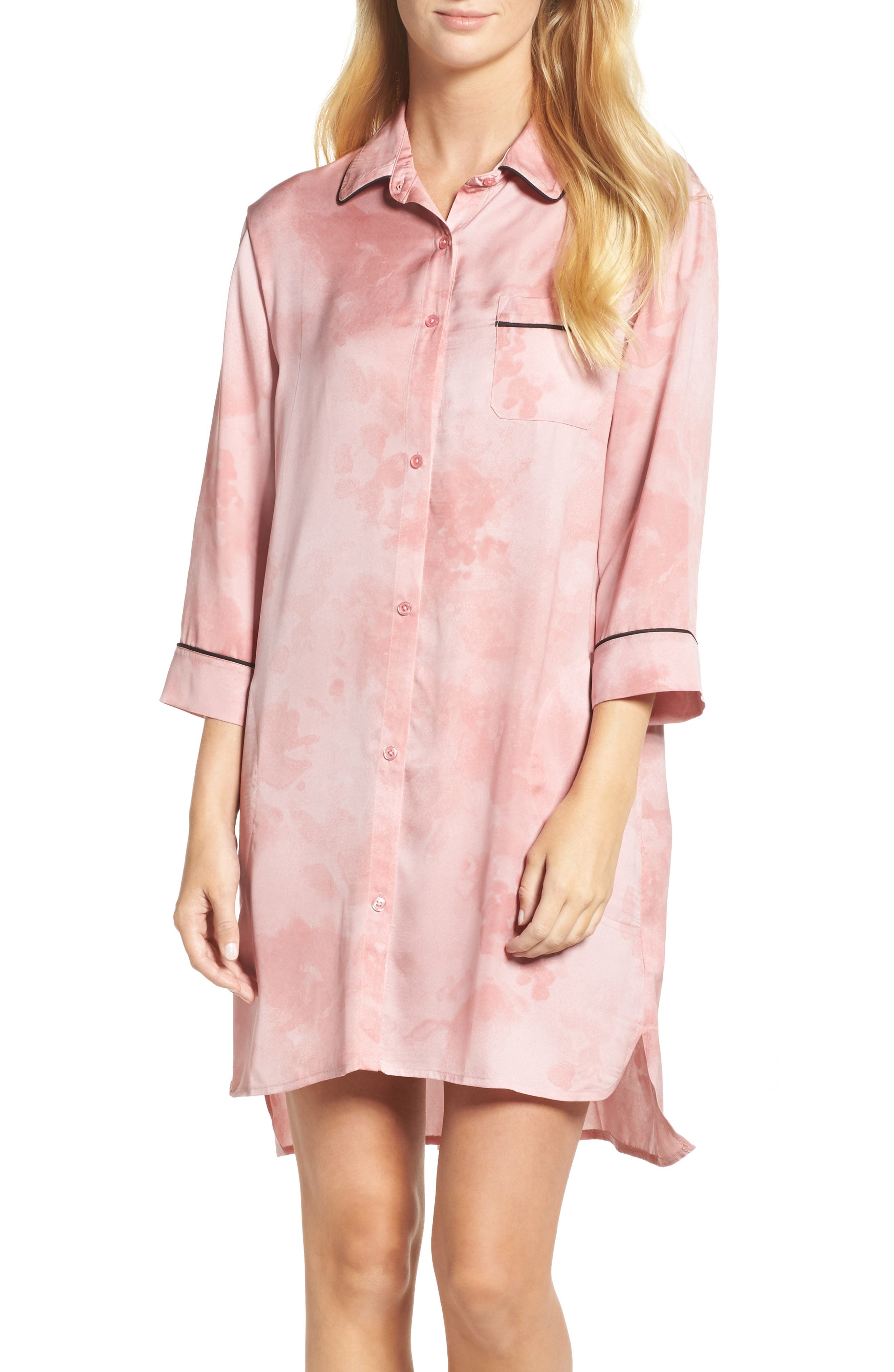 Alternate Image 1 Selected - DKNY Washed Satin Sleep Shirt