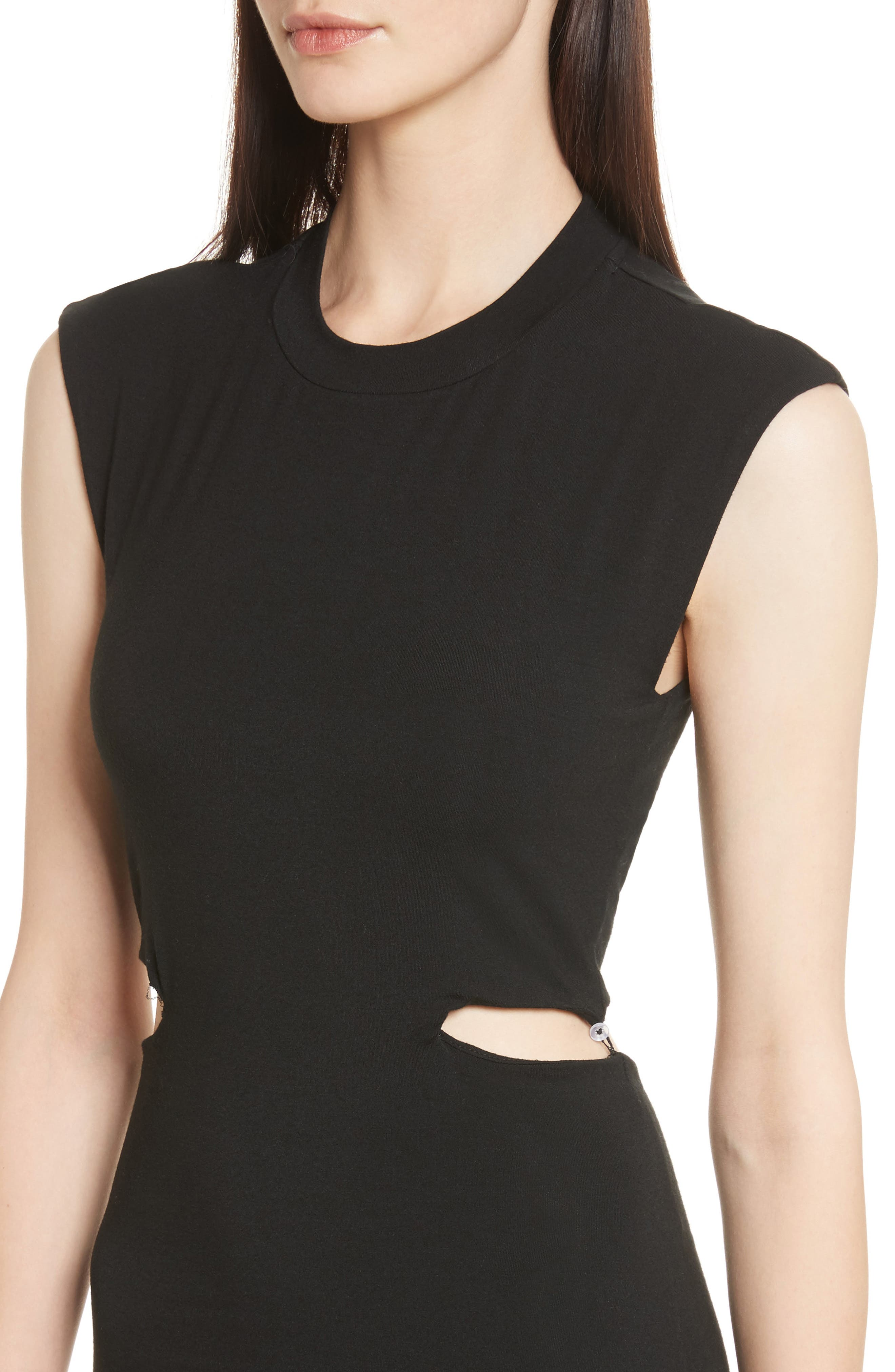 Alternate Image 4  - T by Alexander Wang Cutout Stretch Jersey Dress