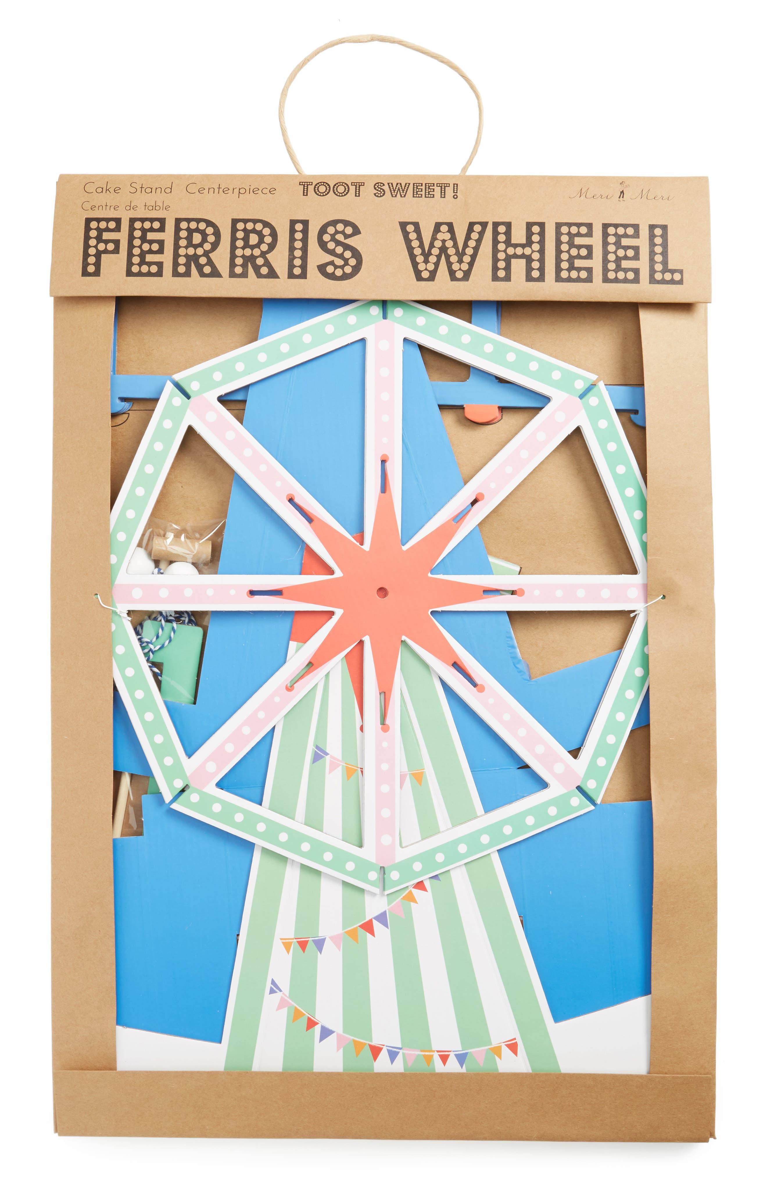 Toot Sweet - Ferris Wheel Cupcake Centerpiece,                             Main thumbnail 1, color,                             Blue Multi