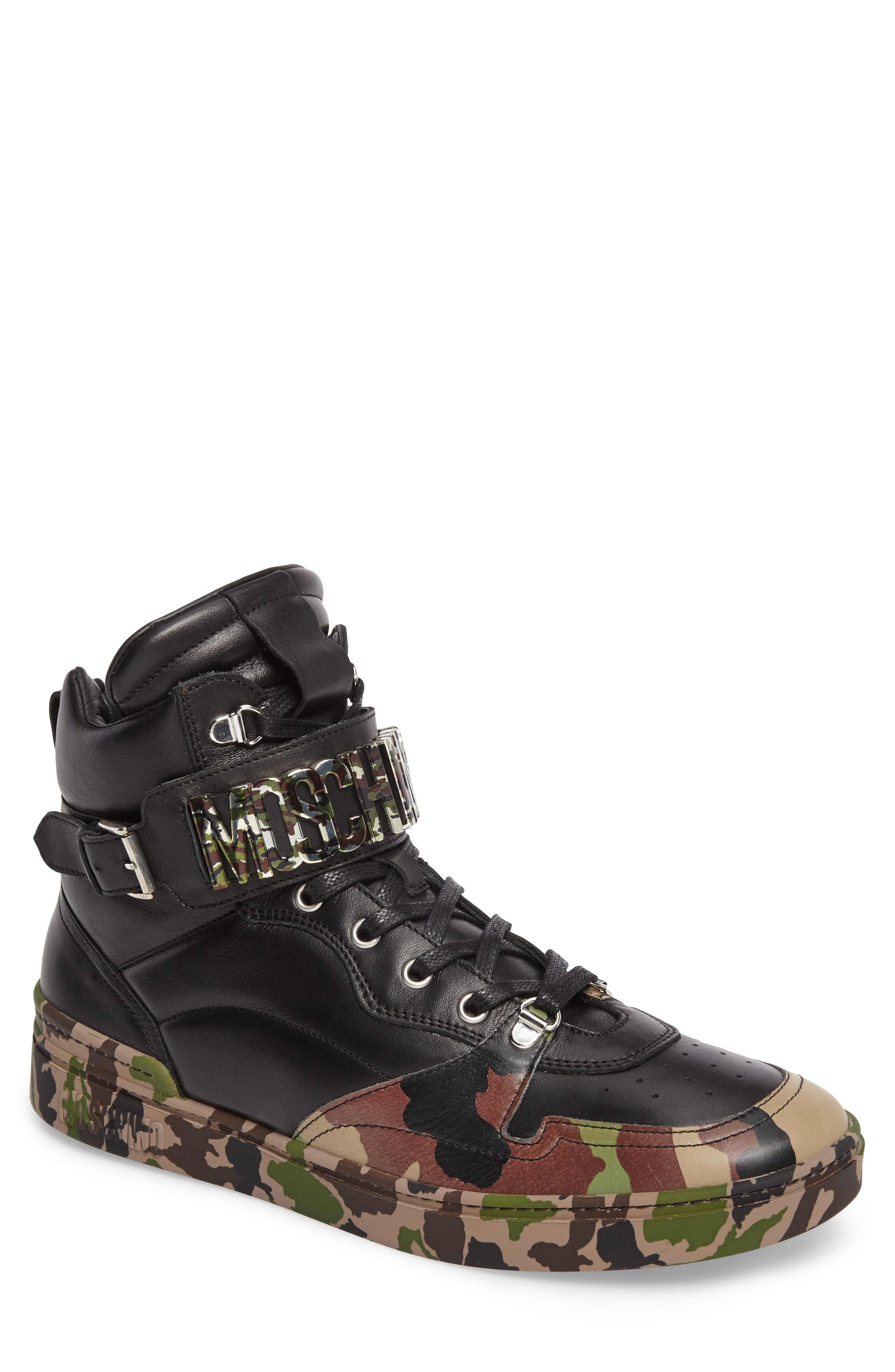 Moschino High Top Sneaker (Men)