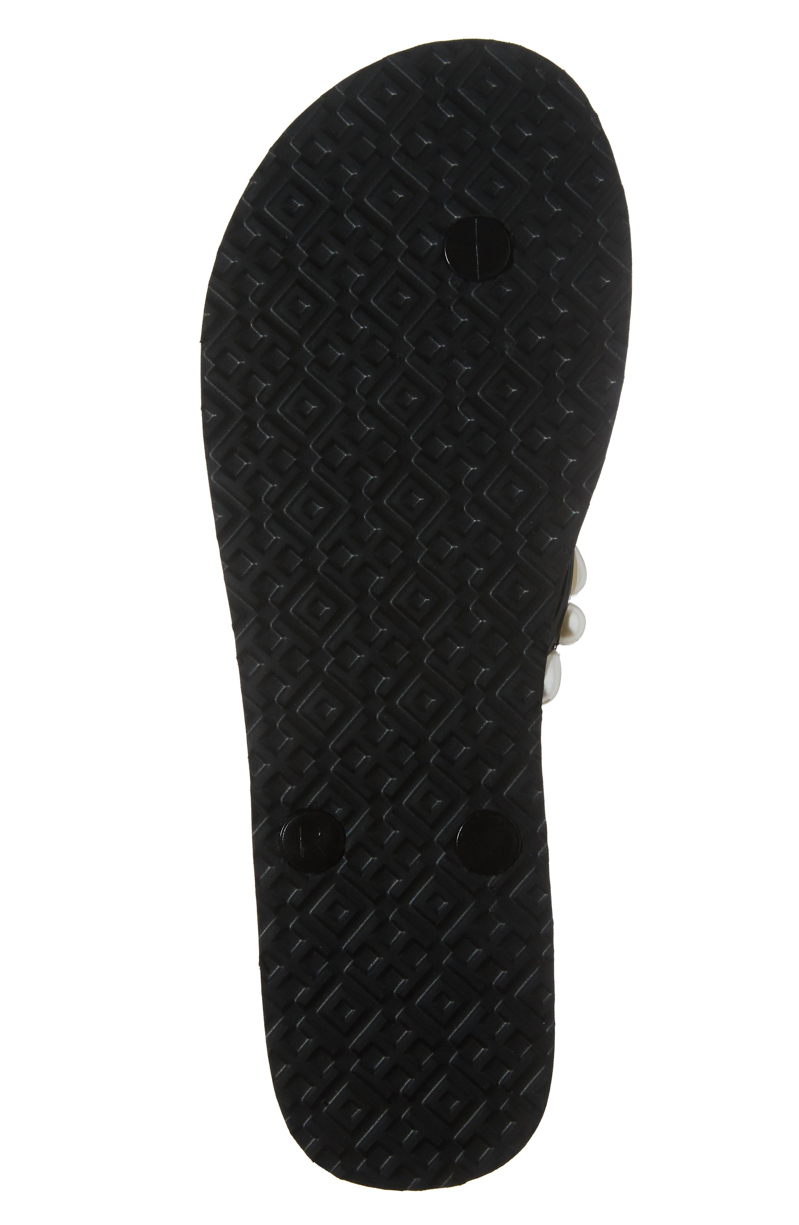 Embellished Flip Flop,                             Alternate thumbnail 6, color,                             Black