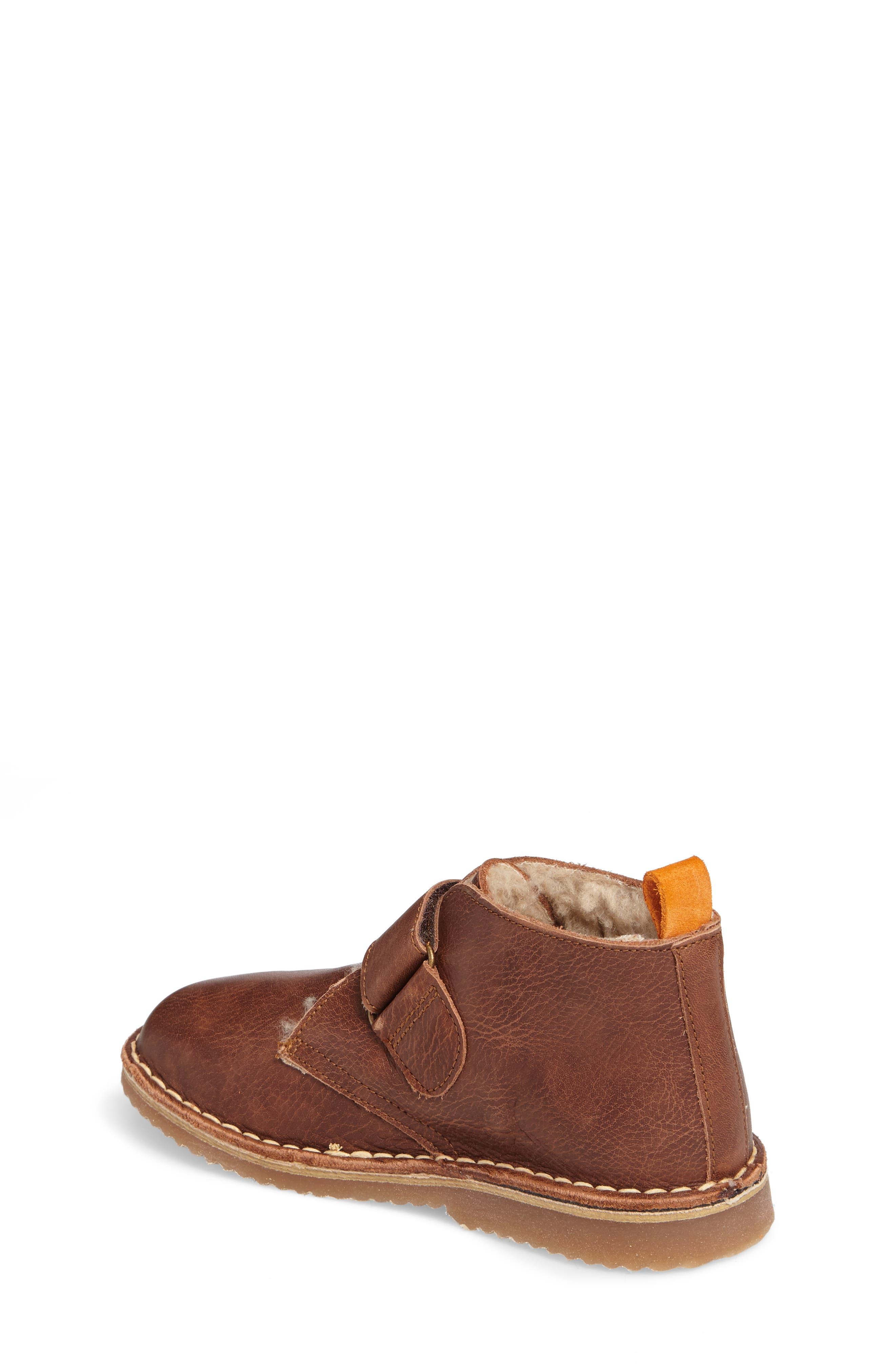 Faux Fur Desert Boot,                             Alternate thumbnail 2, color,                             Brown