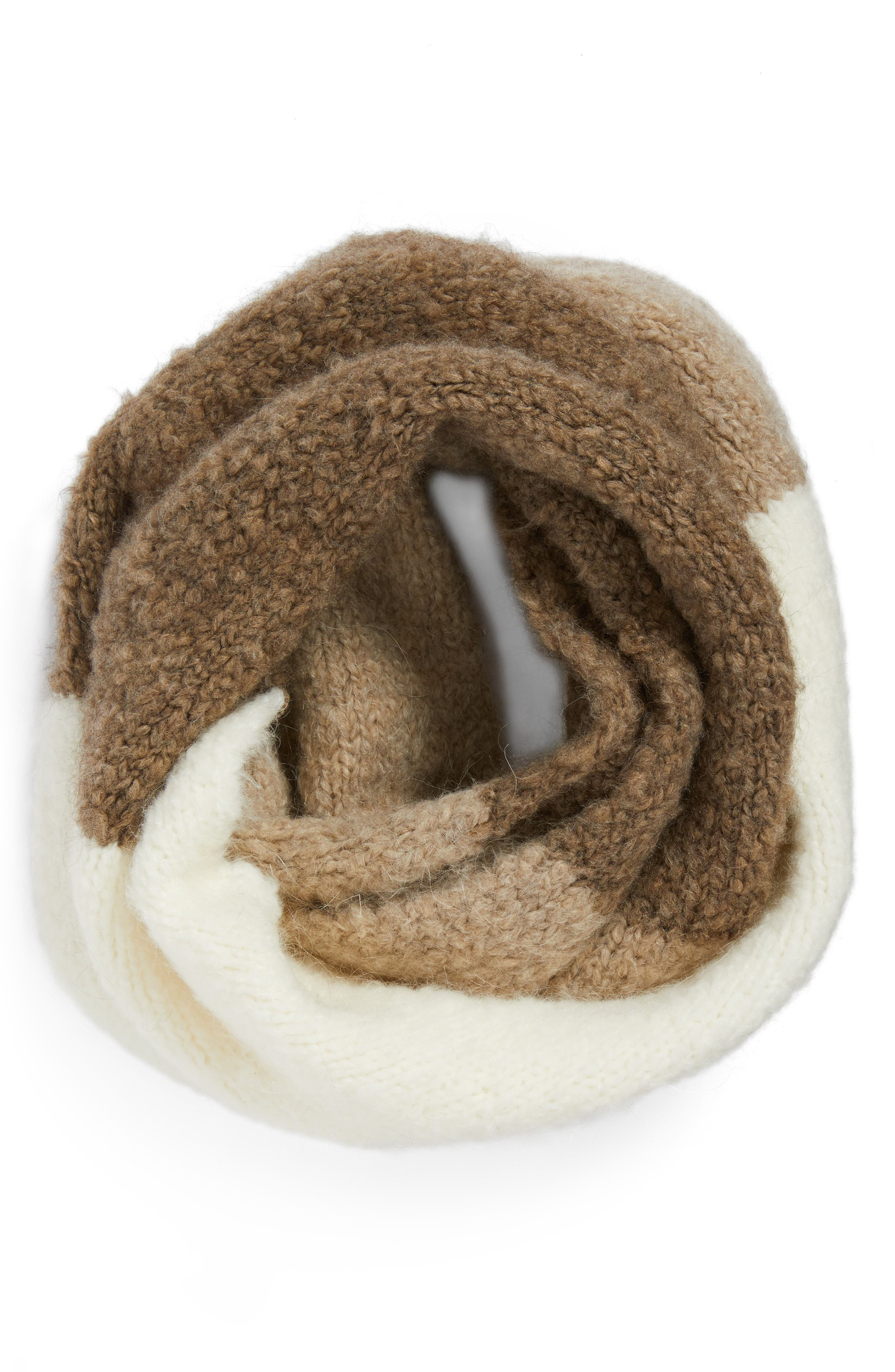 Alternate Image 3  - UGG® Lofty Tricolor Infinity Scarf