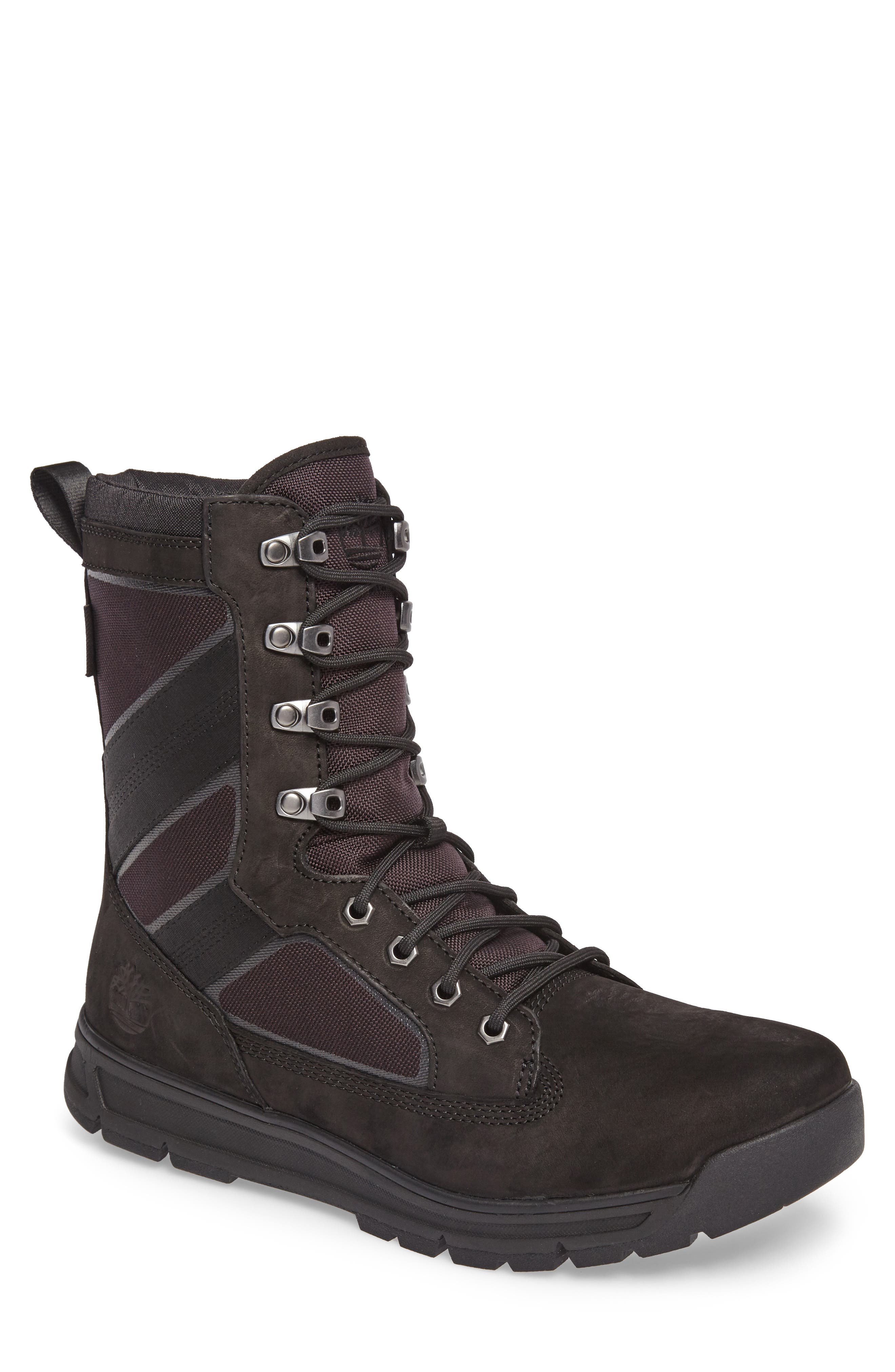 Field Guide Boot,                         Main,                         color, Black Leather