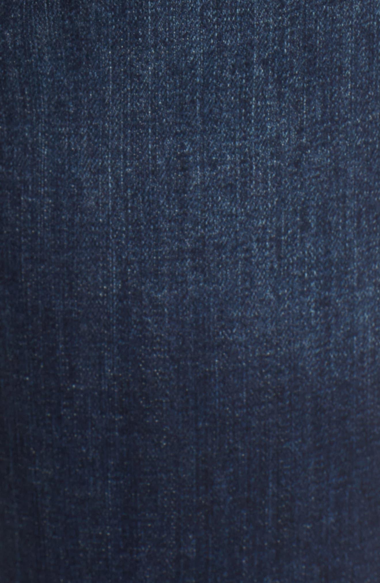 Flexellent Embroidered Boyfriend Jeans,                             Alternate thumbnail 5, color,                             Blue