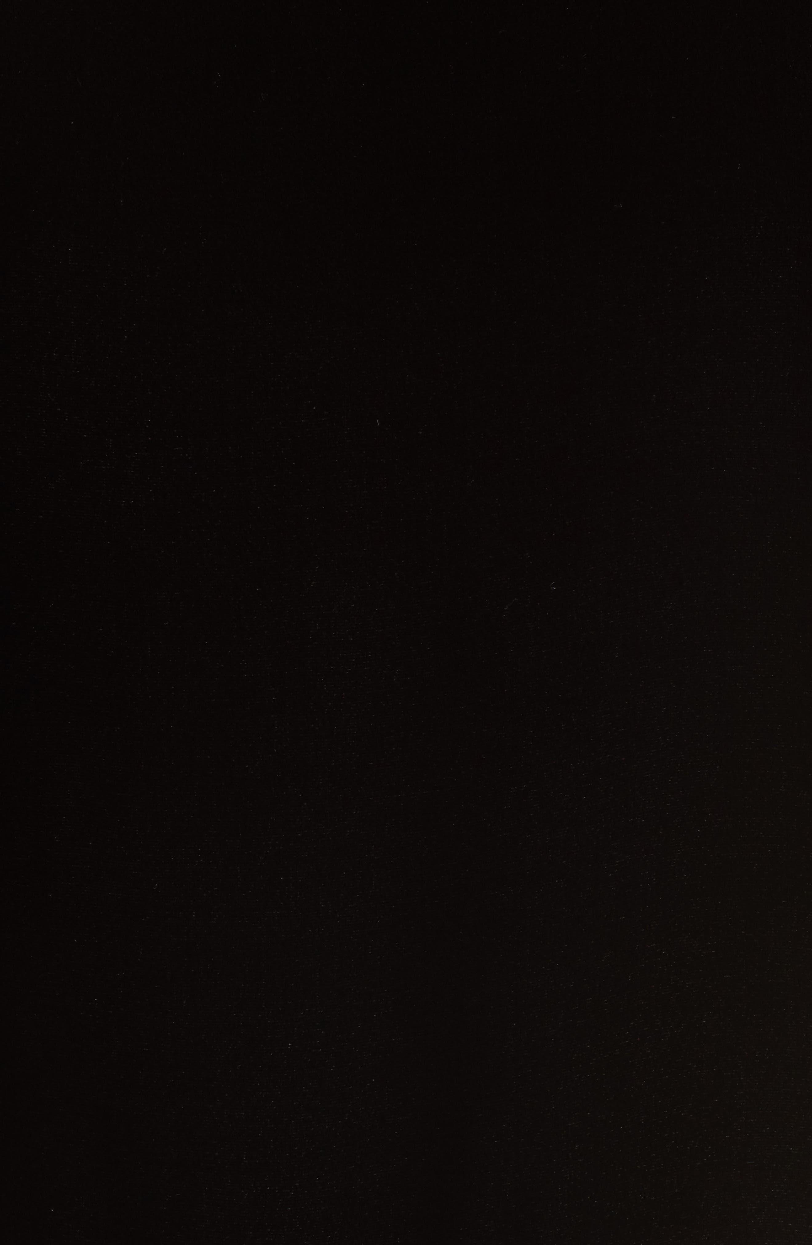 Boxy Velvet Top,                             Alternate thumbnail 5, color,                             Black