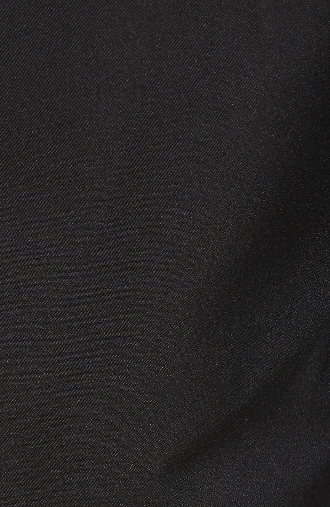 'Salem' Flat Front PerformanceShorts,                             Alternate thumbnail 5, color,                             Black