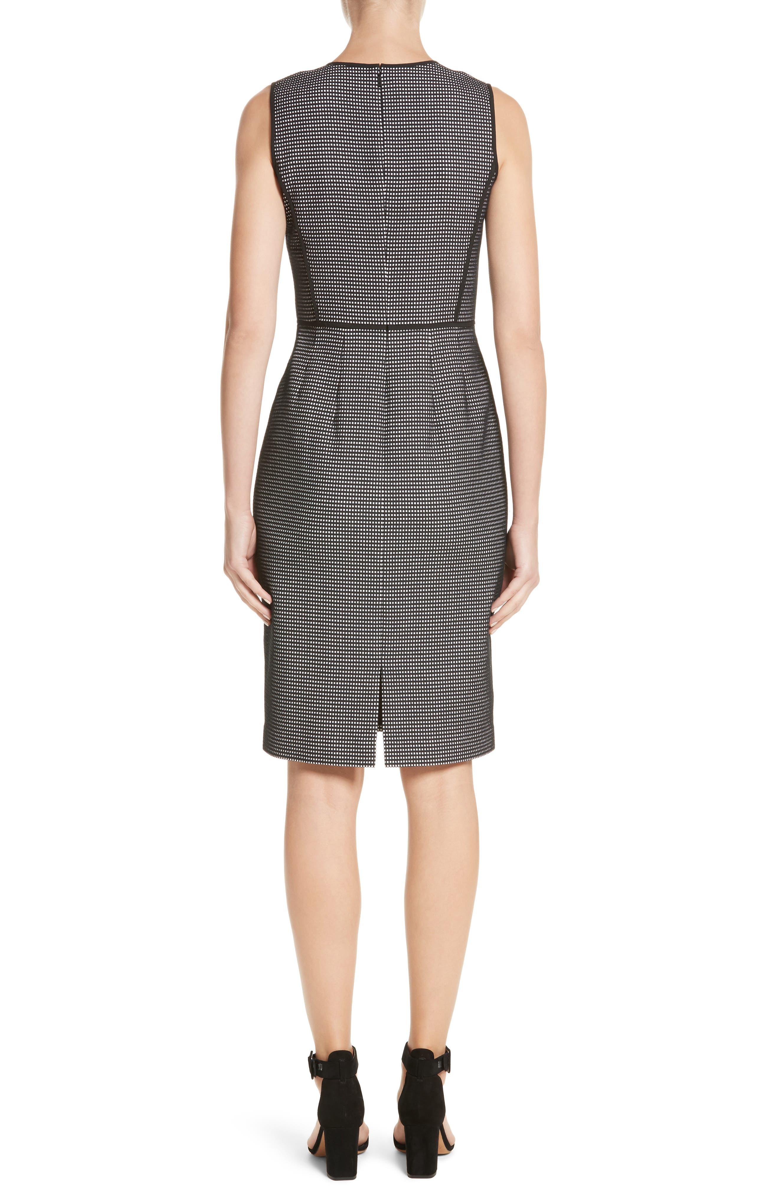 Bree Check Sheath Dress,                             Alternate thumbnail 2, color,                             Black Multi