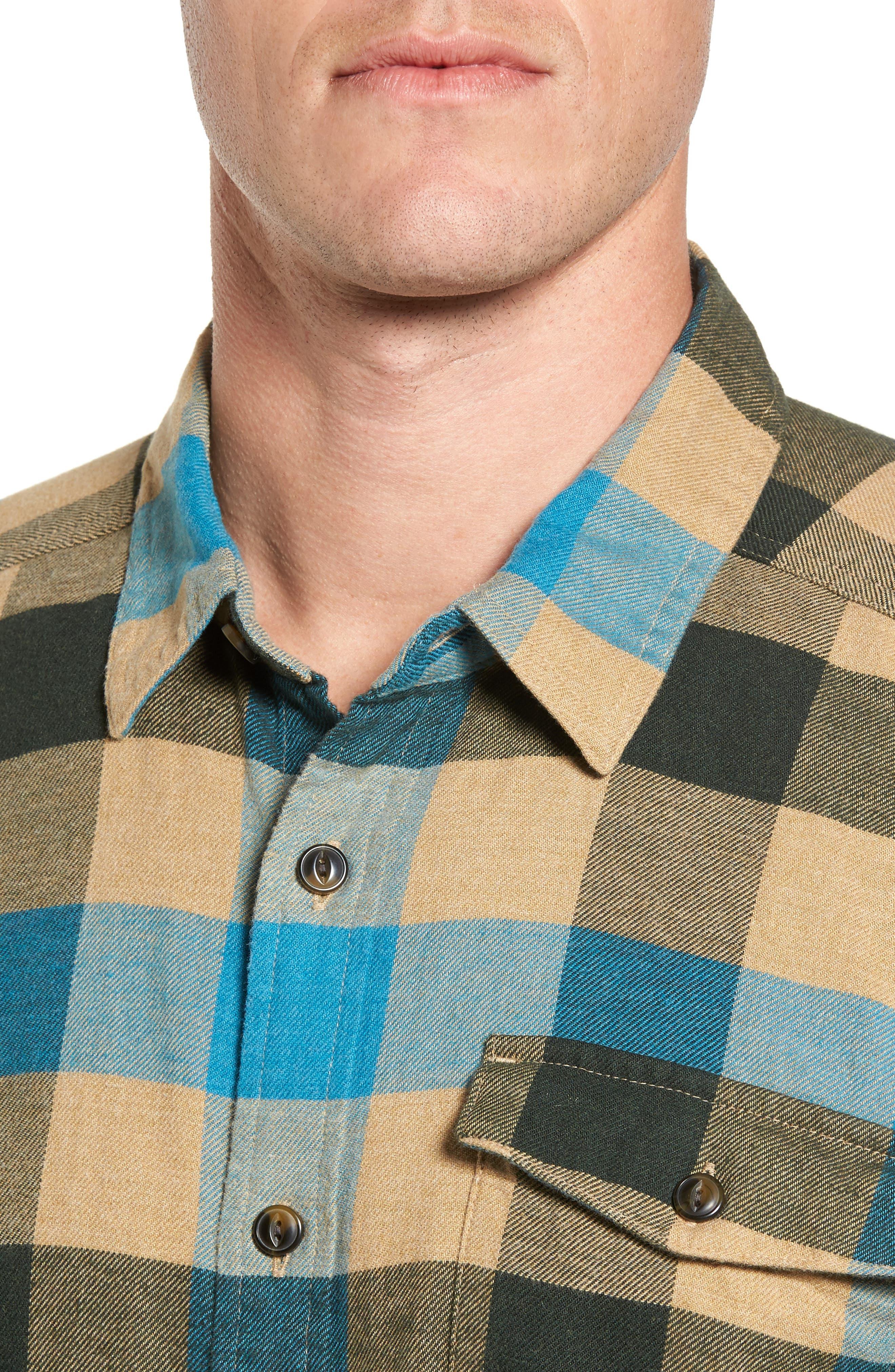 Alternate Image 4  - Patagonia Regular Fit Organic Cotton Flannel Shirt