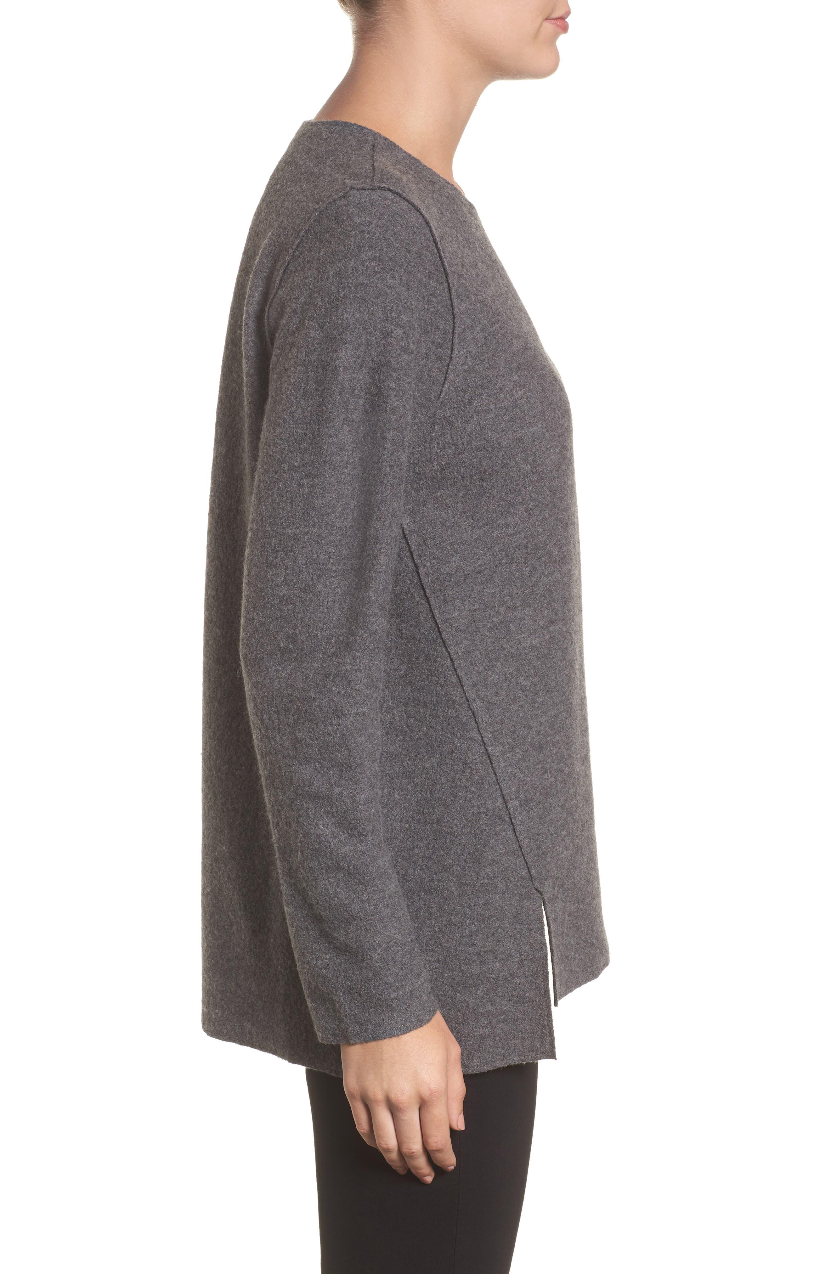 Alternate Image 3  - Eileen Fisher Boiled Merino Wool Top (Regular & Petite)