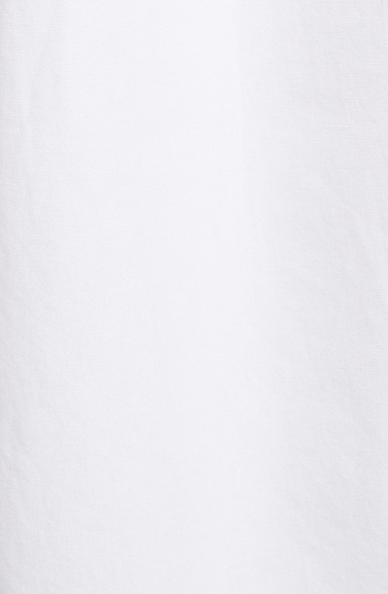 Pintuck Cotton Tunic,                             Alternate thumbnail 5, color,                             White