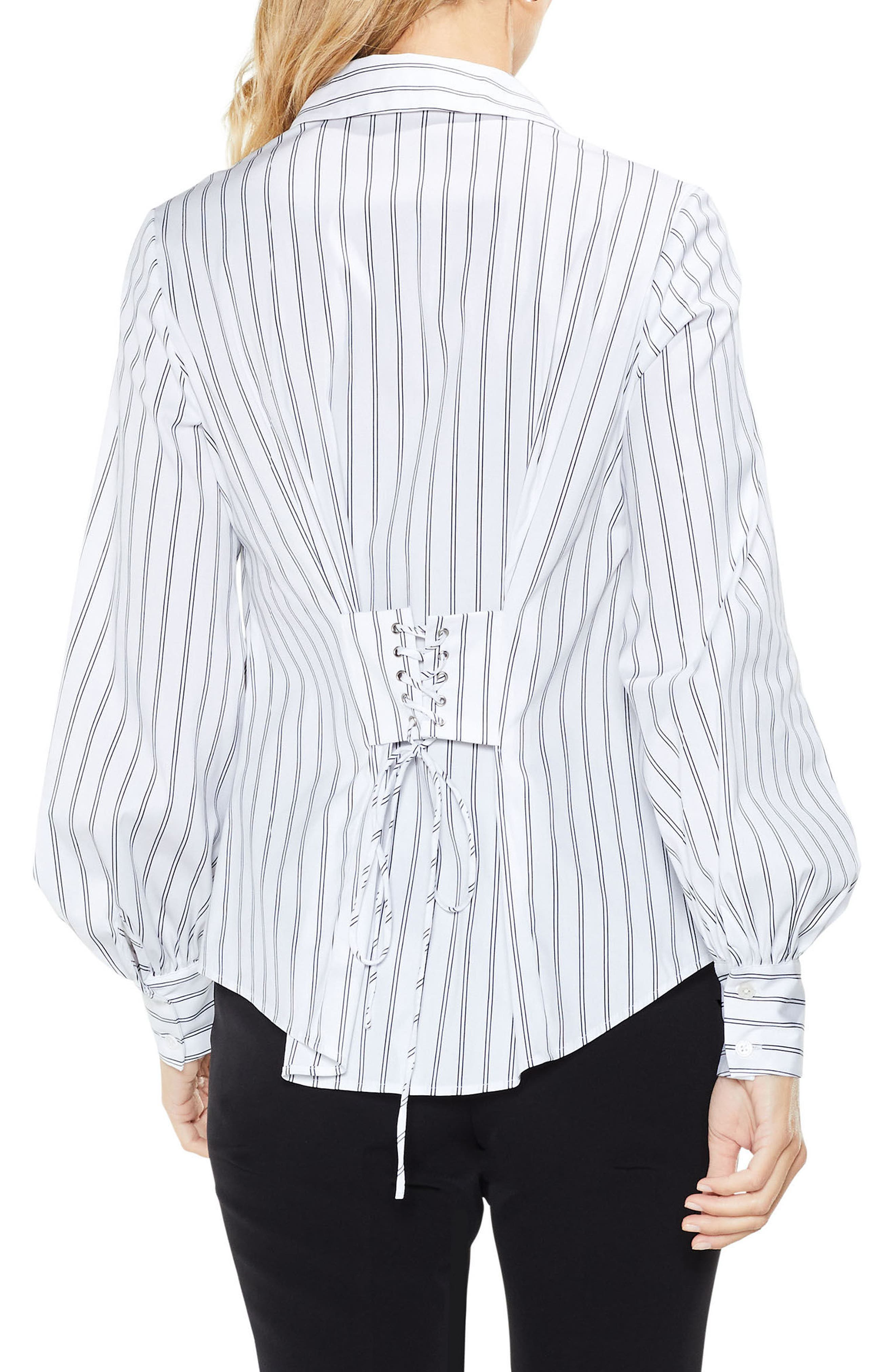Alternate Image 2  - Vince Camuto Stripe Lace-Up Shirt