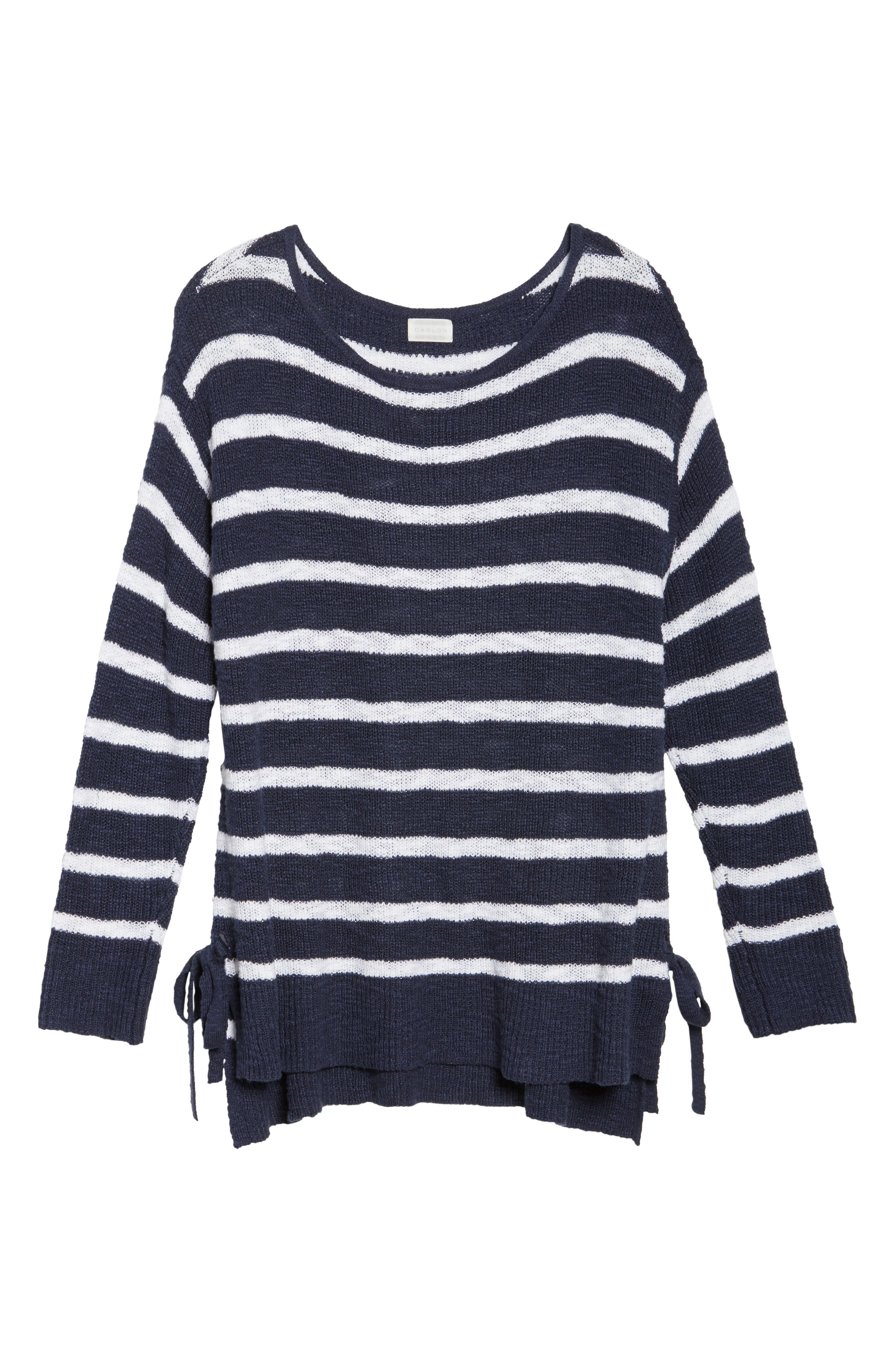 Caslon® Tunic Sweater with Side Ties (Plus Size)