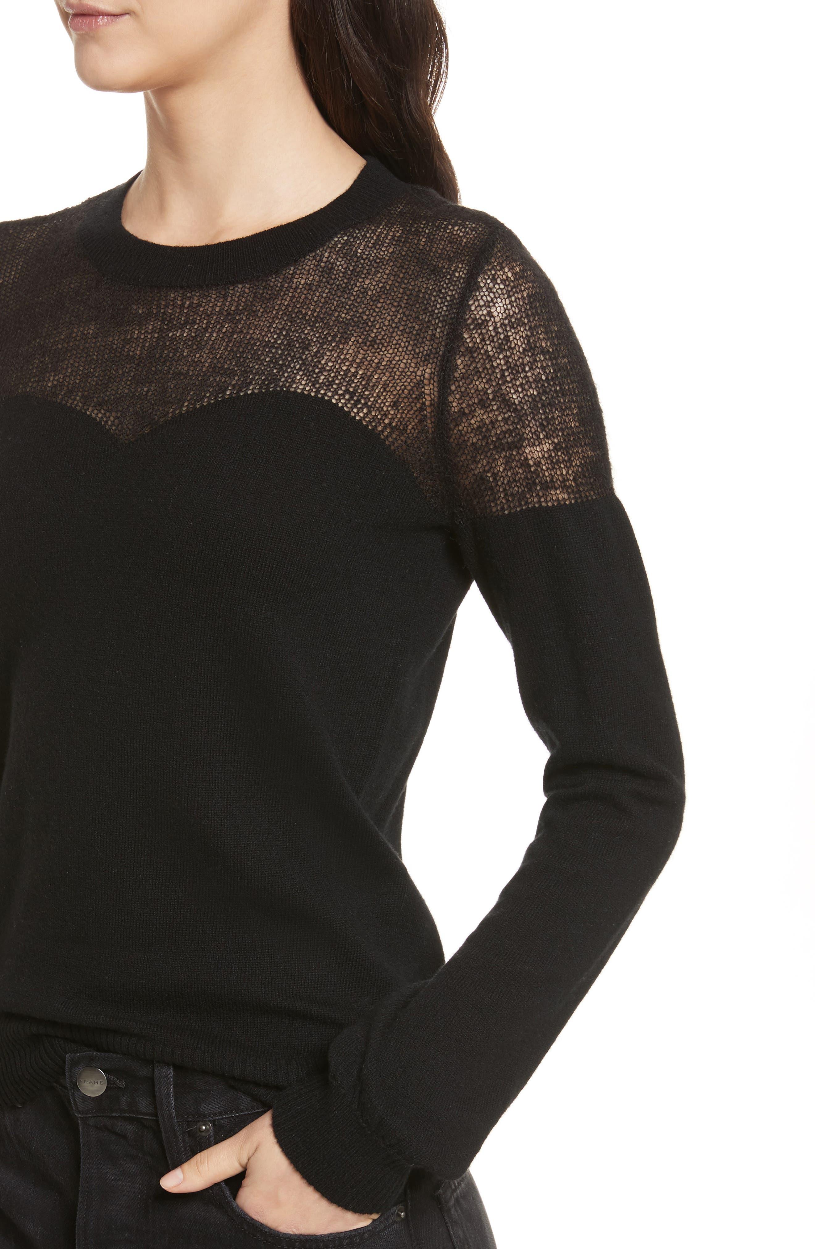 Clarence Sweater,                             Alternate thumbnail 4, color,                             Black Multi