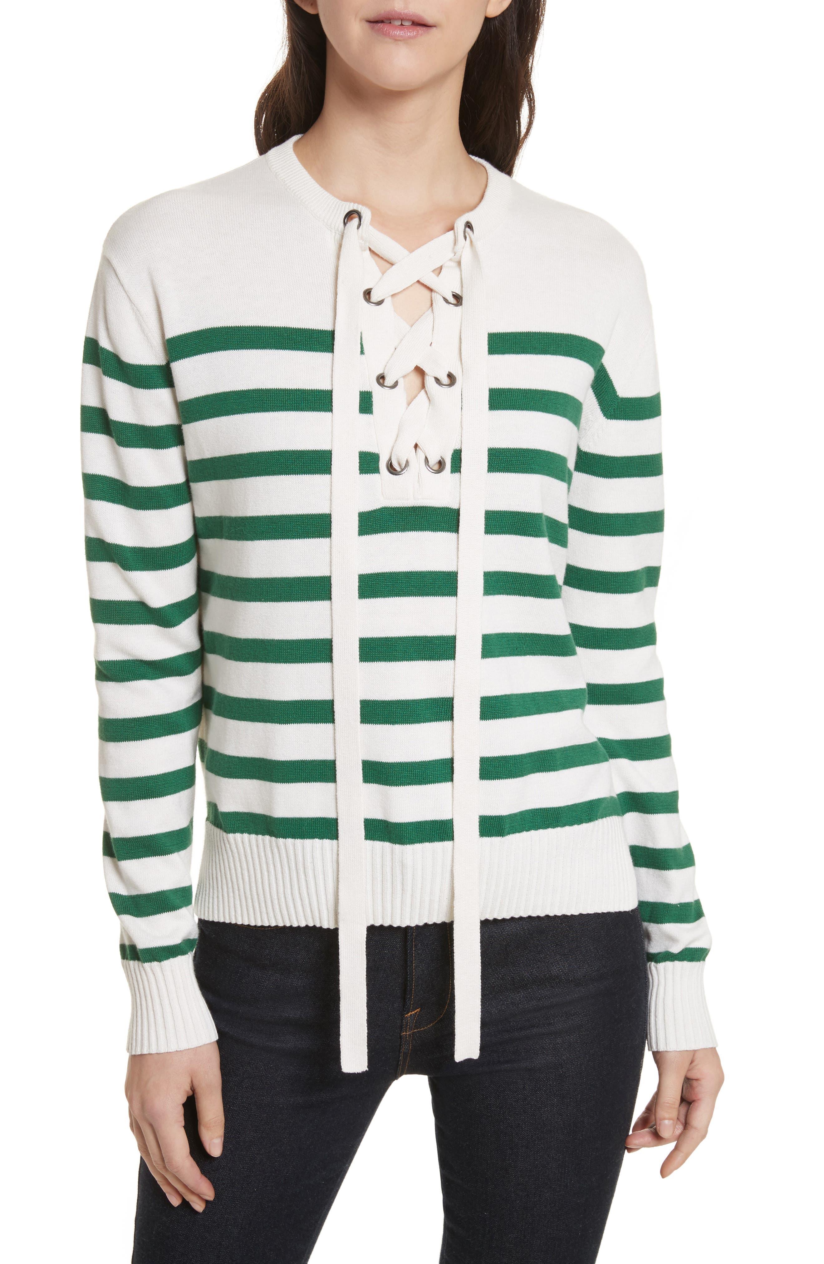 Winston Sweater,                         Main,                         color, White/ Eden