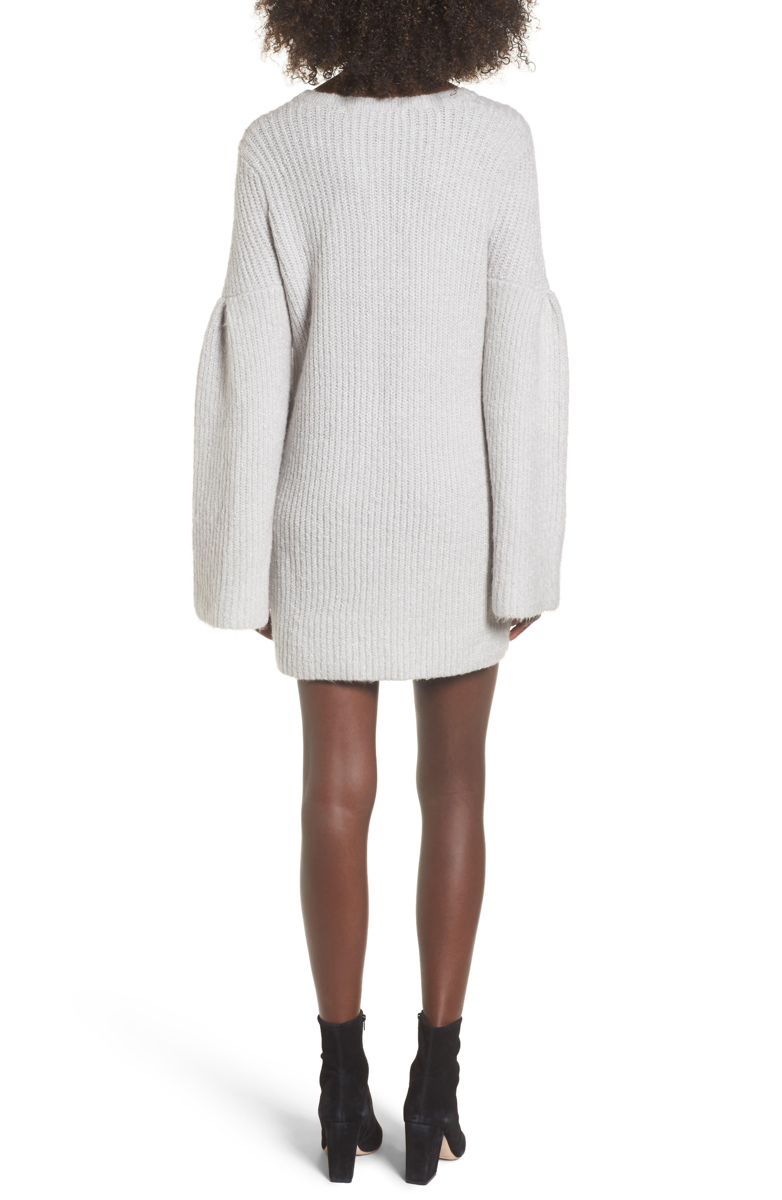 Gemstone Sweater Dress,                             Alternate thumbnail 2, color,                             Warm Grey