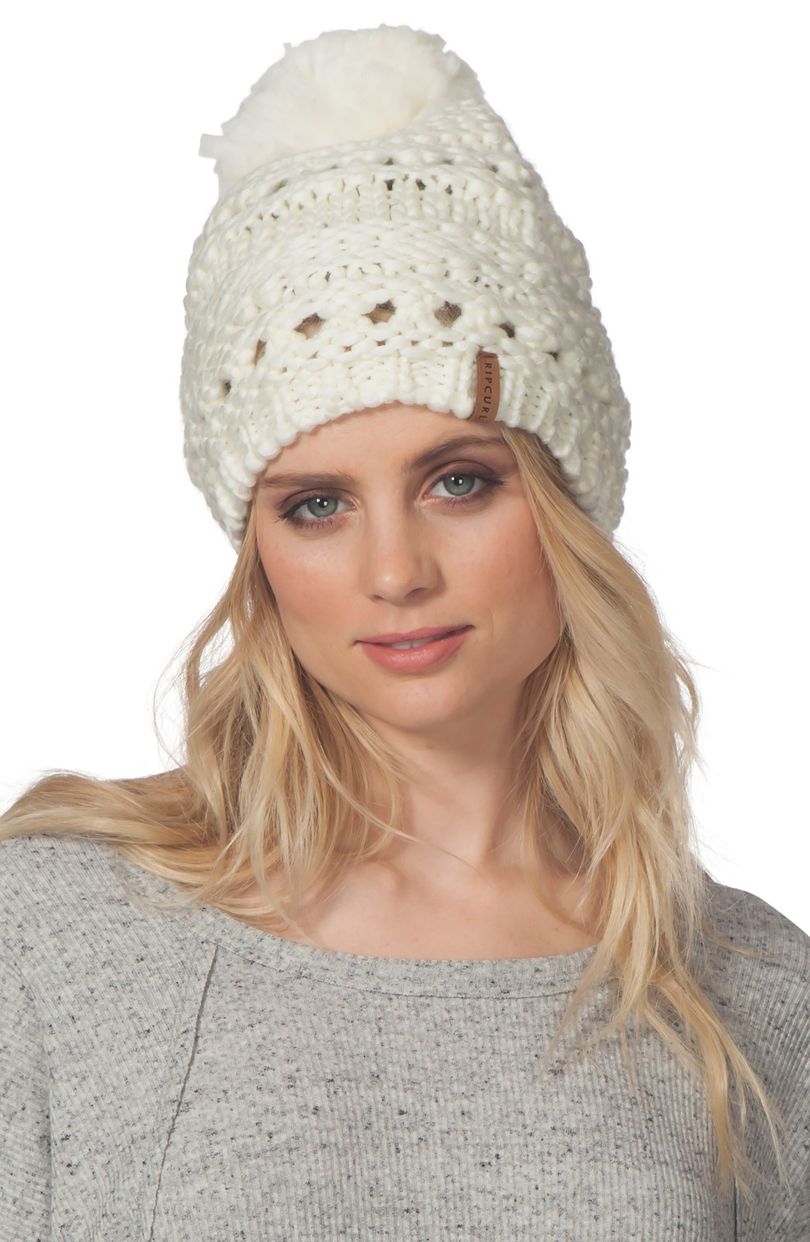 Alternate Image 1 Selected - Rip Curl Wilderness Pompom Beanie