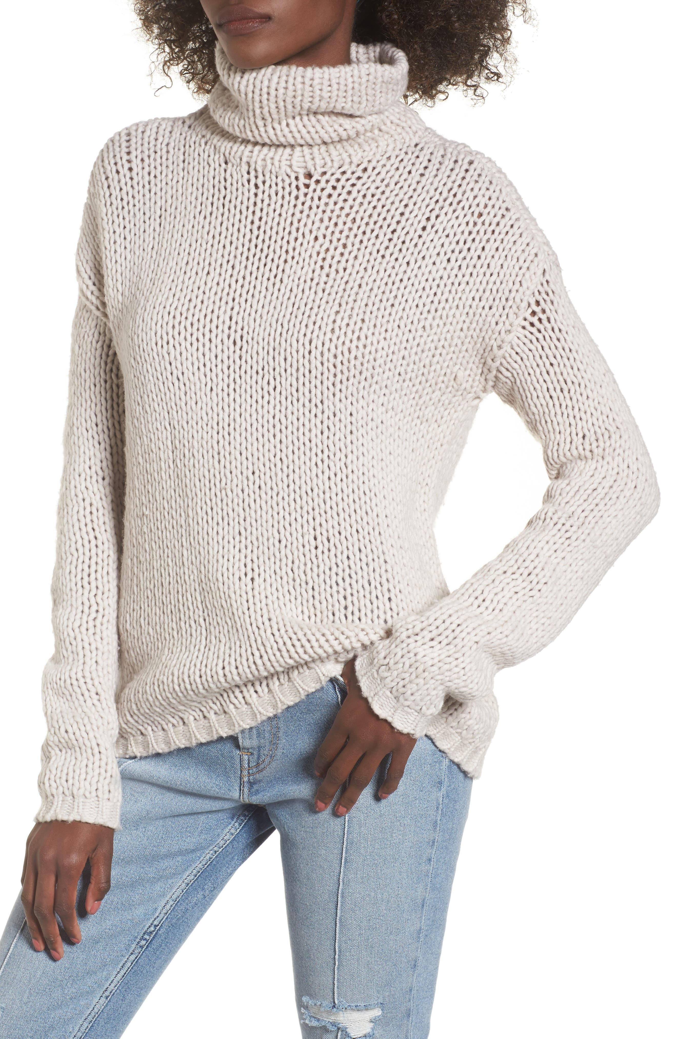 Hawken Turtleneck Sweater,                         Main,                         color, Pearl