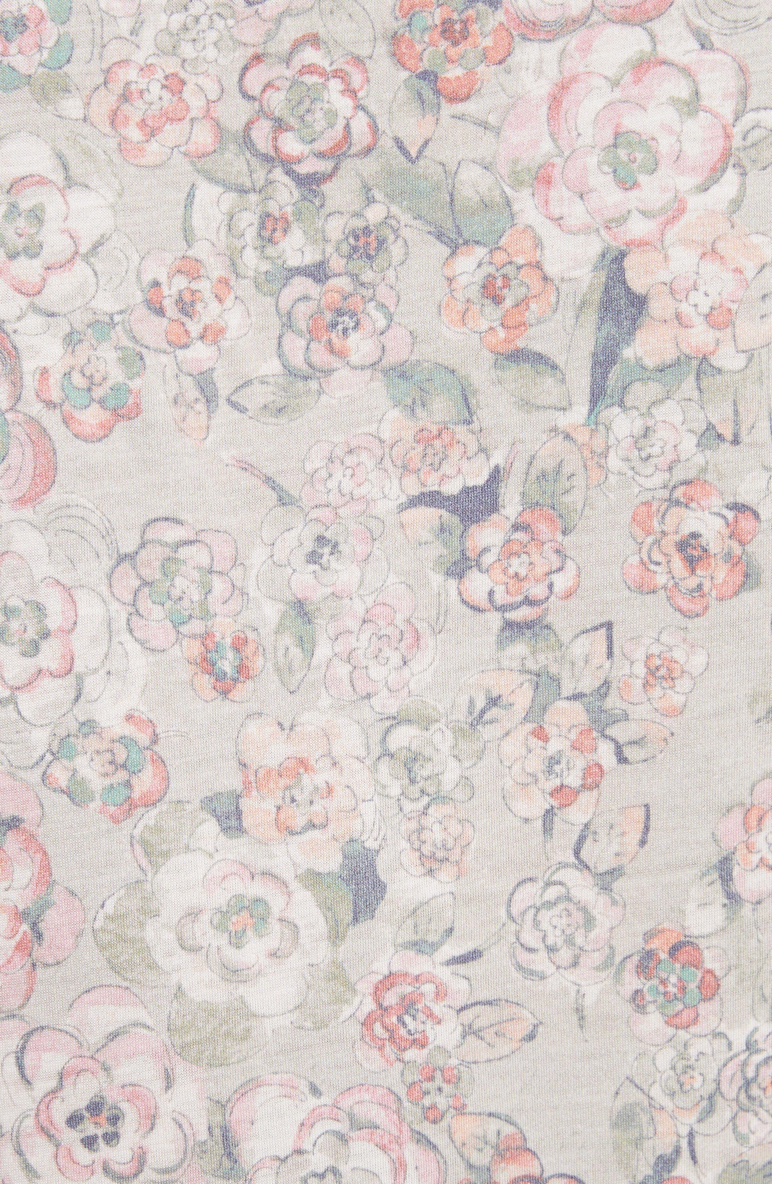 Alternate Image 5  - La Vie Rebecca Taylor Fabienne Floral Jersey Top