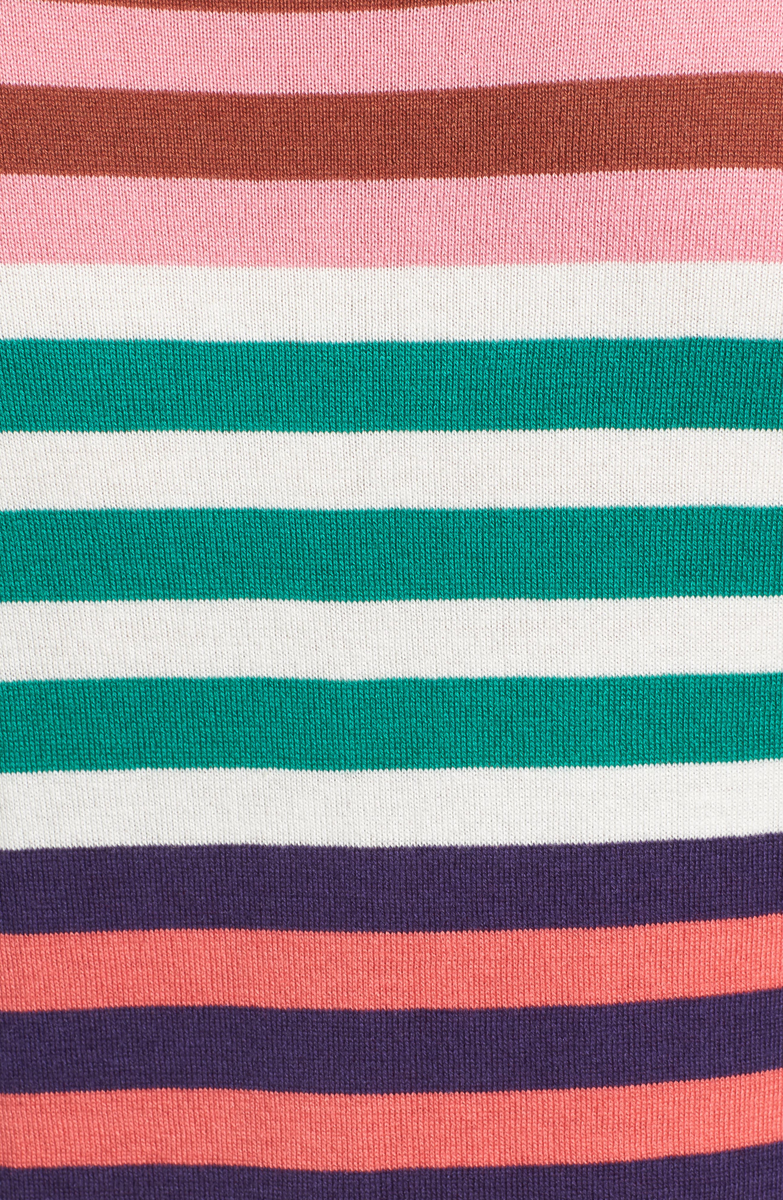 Colorblock Stripe Sweater,                             Alternate thumbnail 5, color,                             Coral Multi Stripe