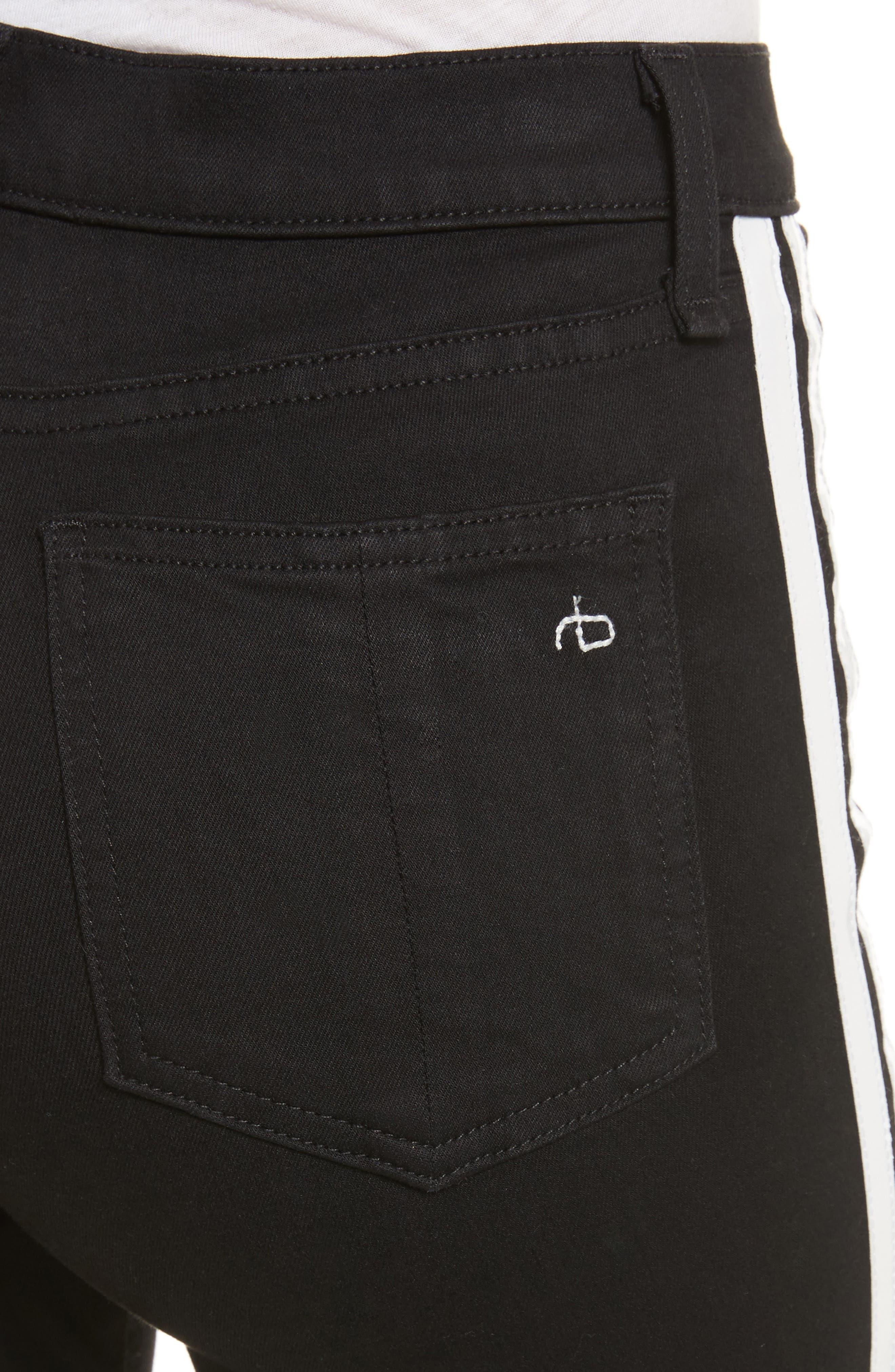 Mito High Waist Skinny Jeans,                             Alternate thumbnail 4, color,                             Black