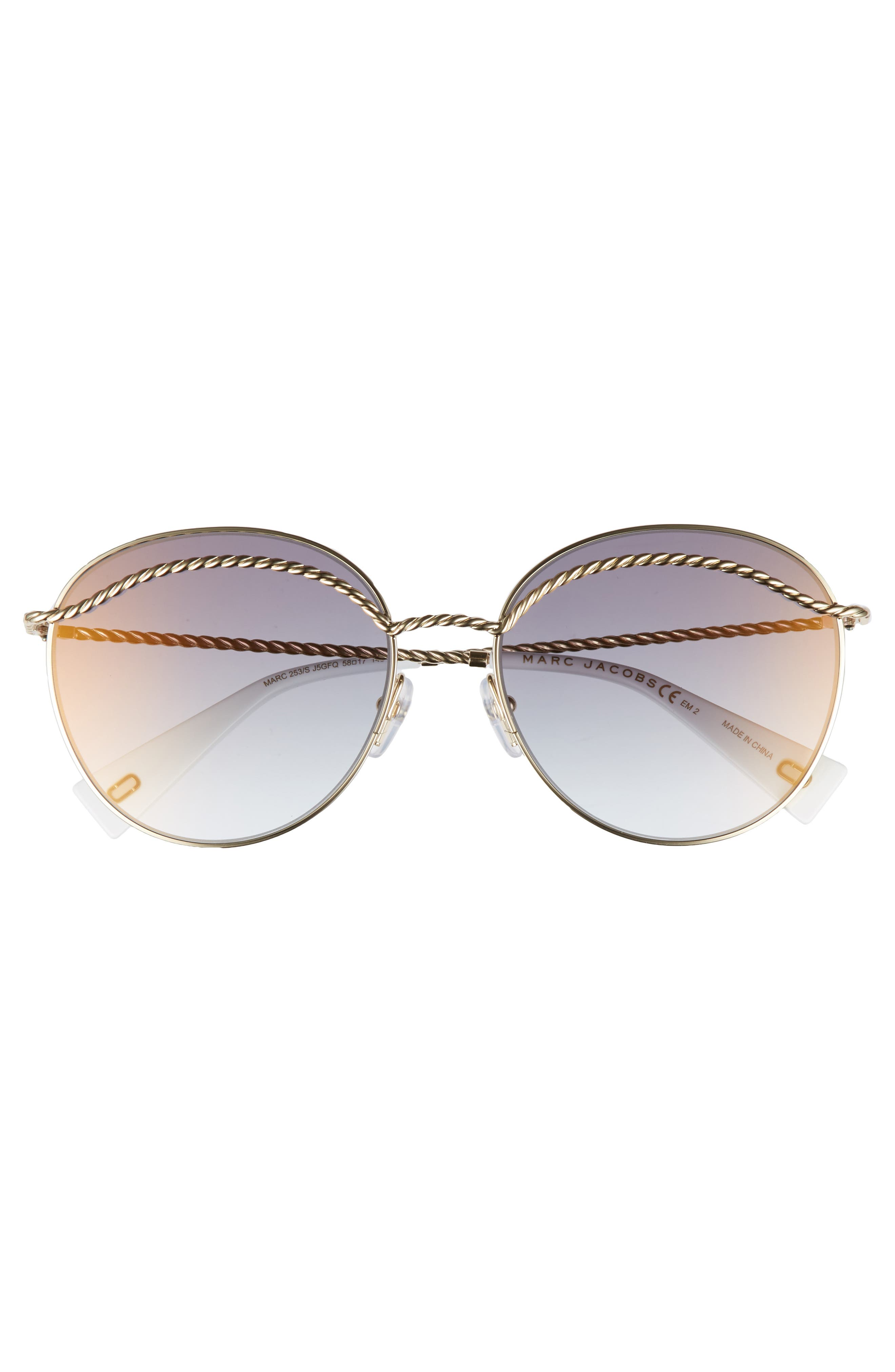 Alternate Image 3  - MARC JACOBS 58mm Round Sunglasses
