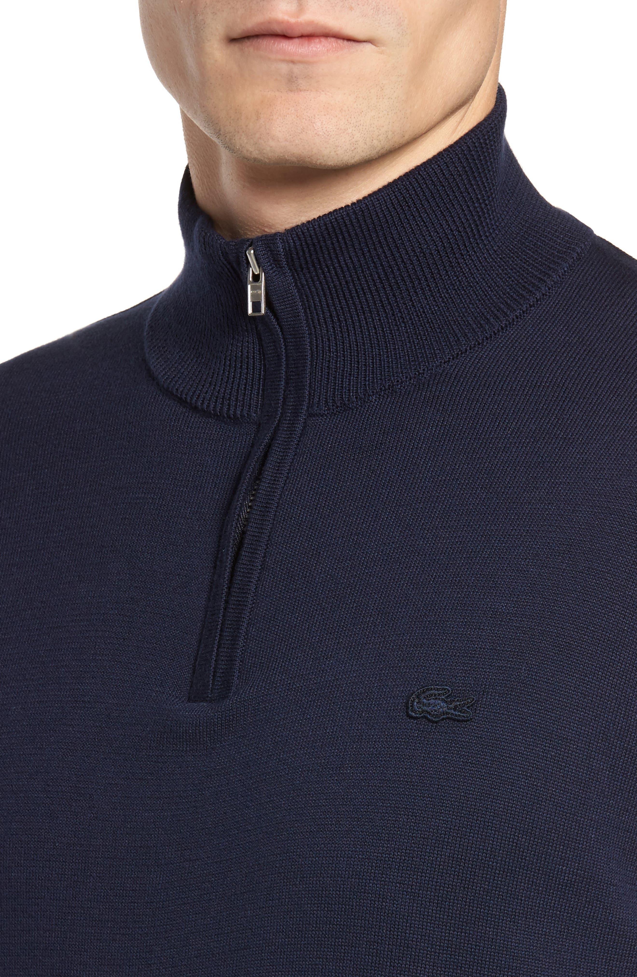 Alternate Image 4  - Lacoste Quarter Zip Sweater
