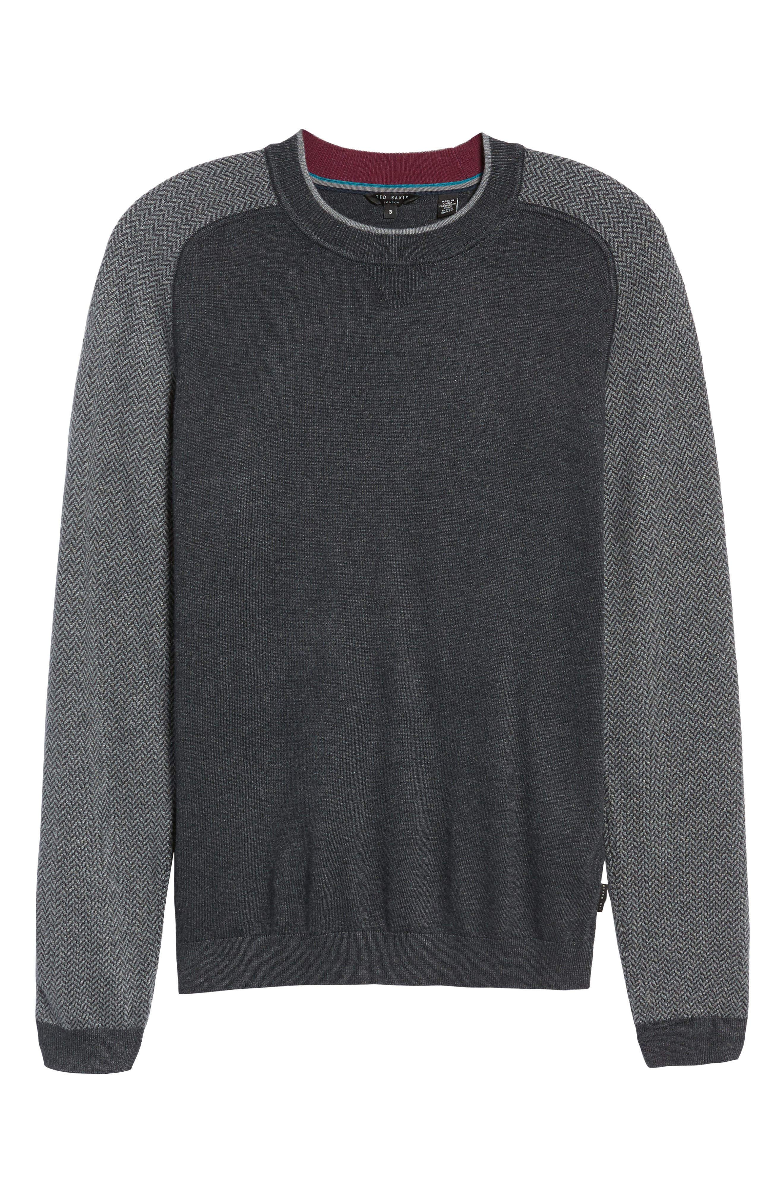 Alternate Image 6  - Ted Baker London Pepmint Herringbone Sleeve Sweatshirt