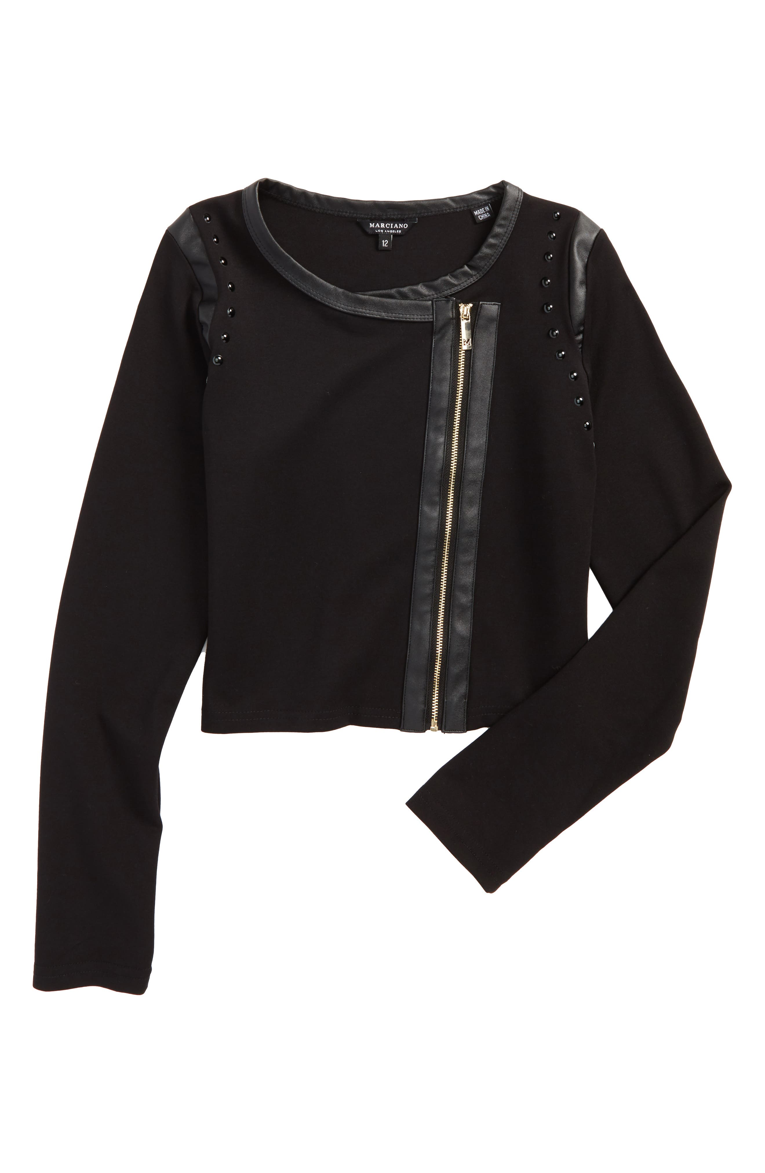Ponte Bolero Jacket,                         Main,                         color, Jet Black/ Frost Grey